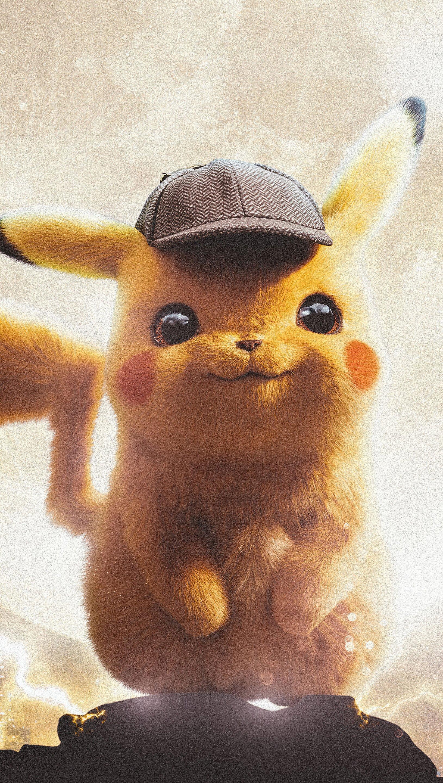 Wallpaper Pokemon Detective PIkachu Vertical