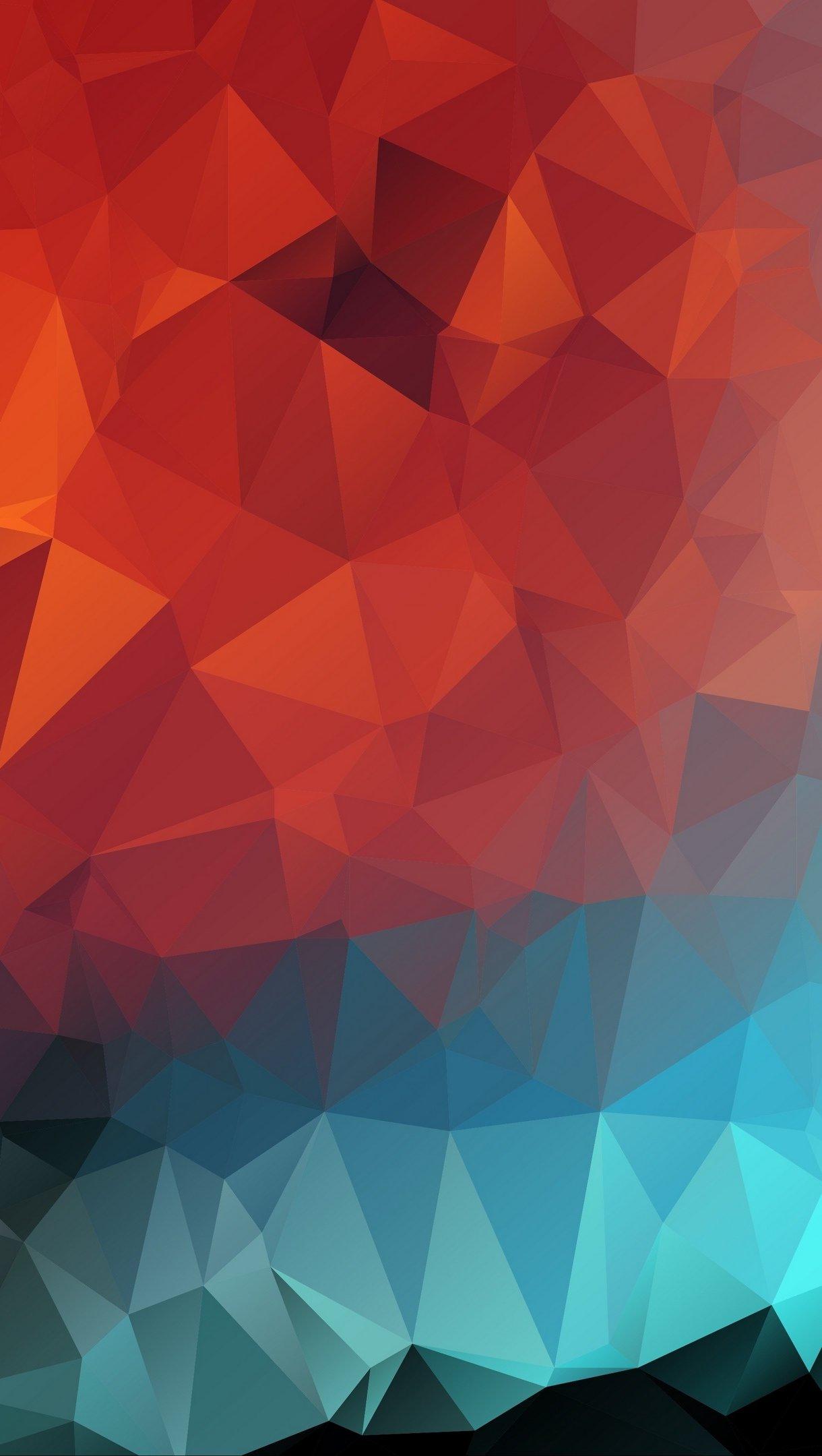 Wallpaper Polygons Low-poly Art Vertical