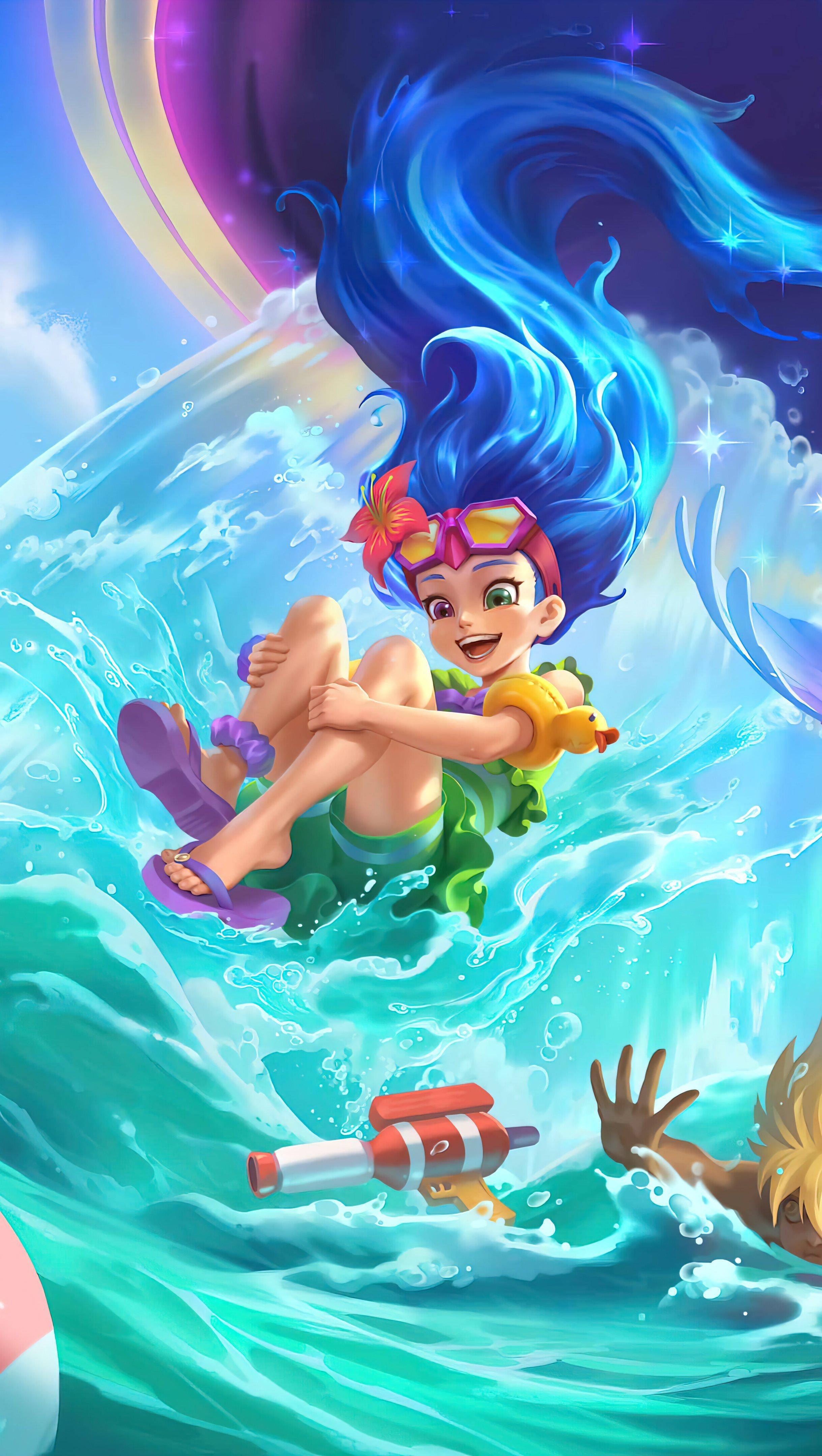 Wallpaper Pool Part Zoe League of Legends Vertical