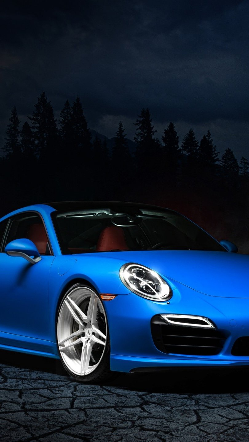 Wallpaper Porsche 991 blue Vertical