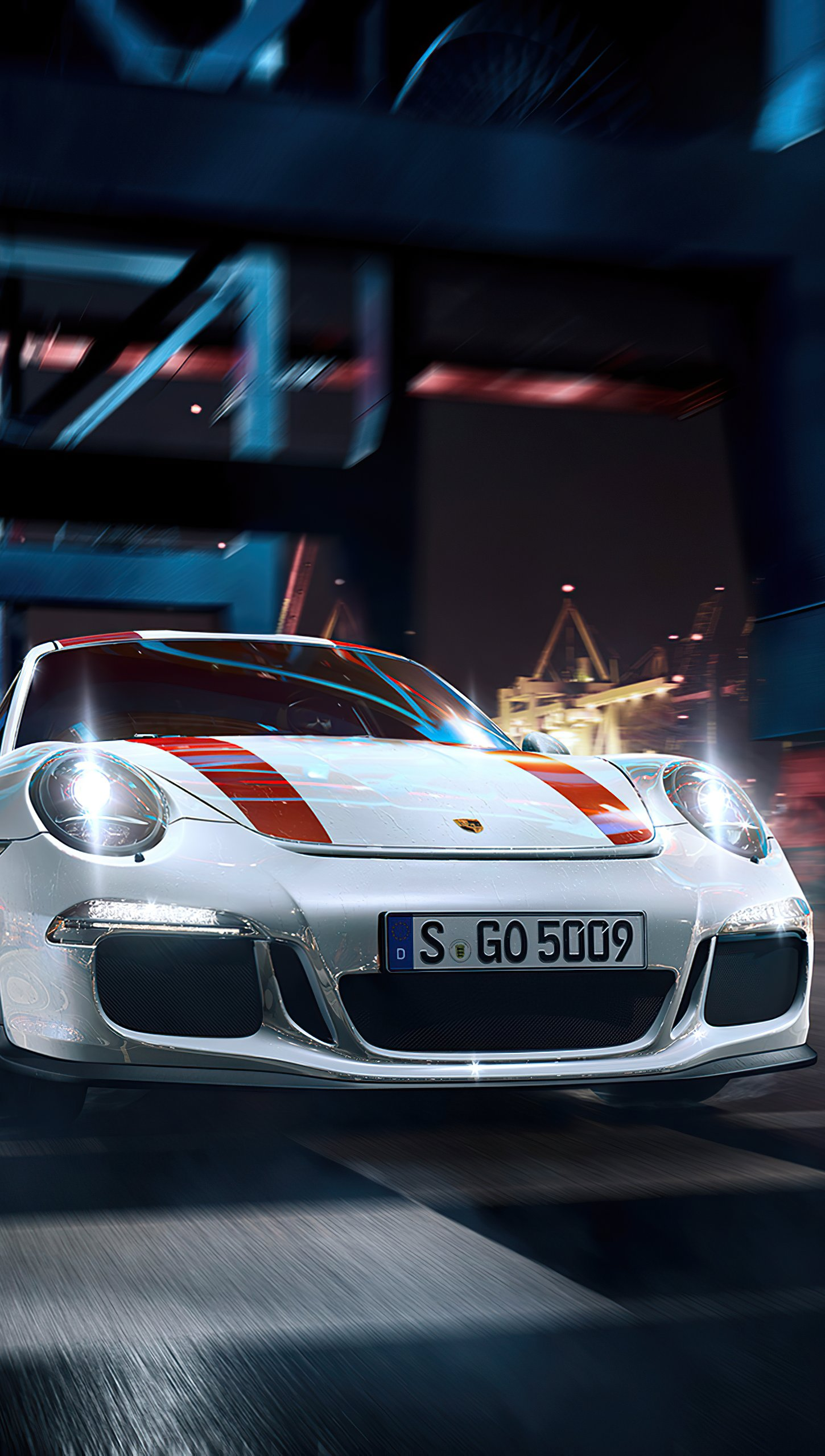 Fondos de pantalla Porsche blanco Vertical