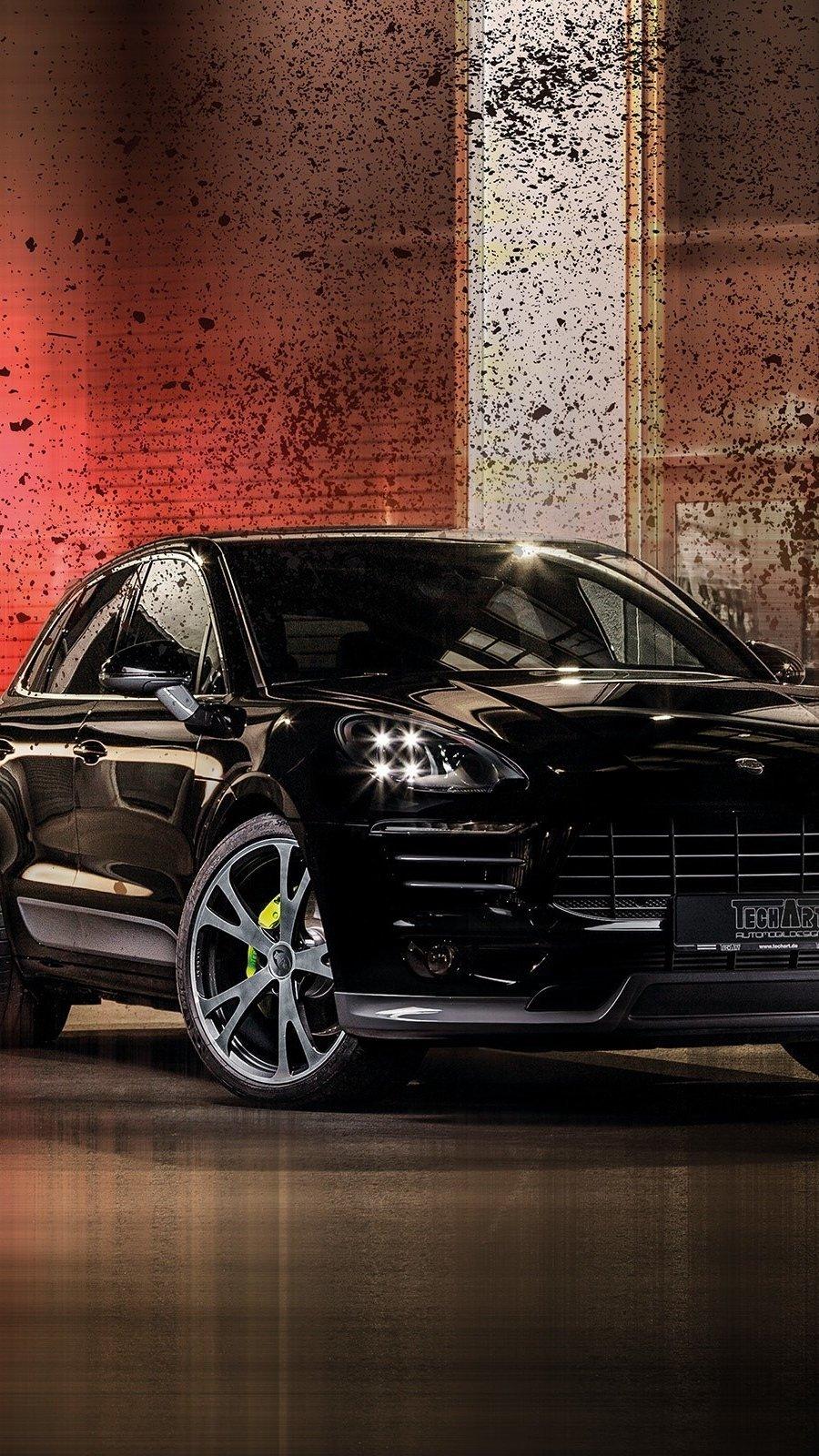 Fondos de pantalla Porsche Macan negro Vertical