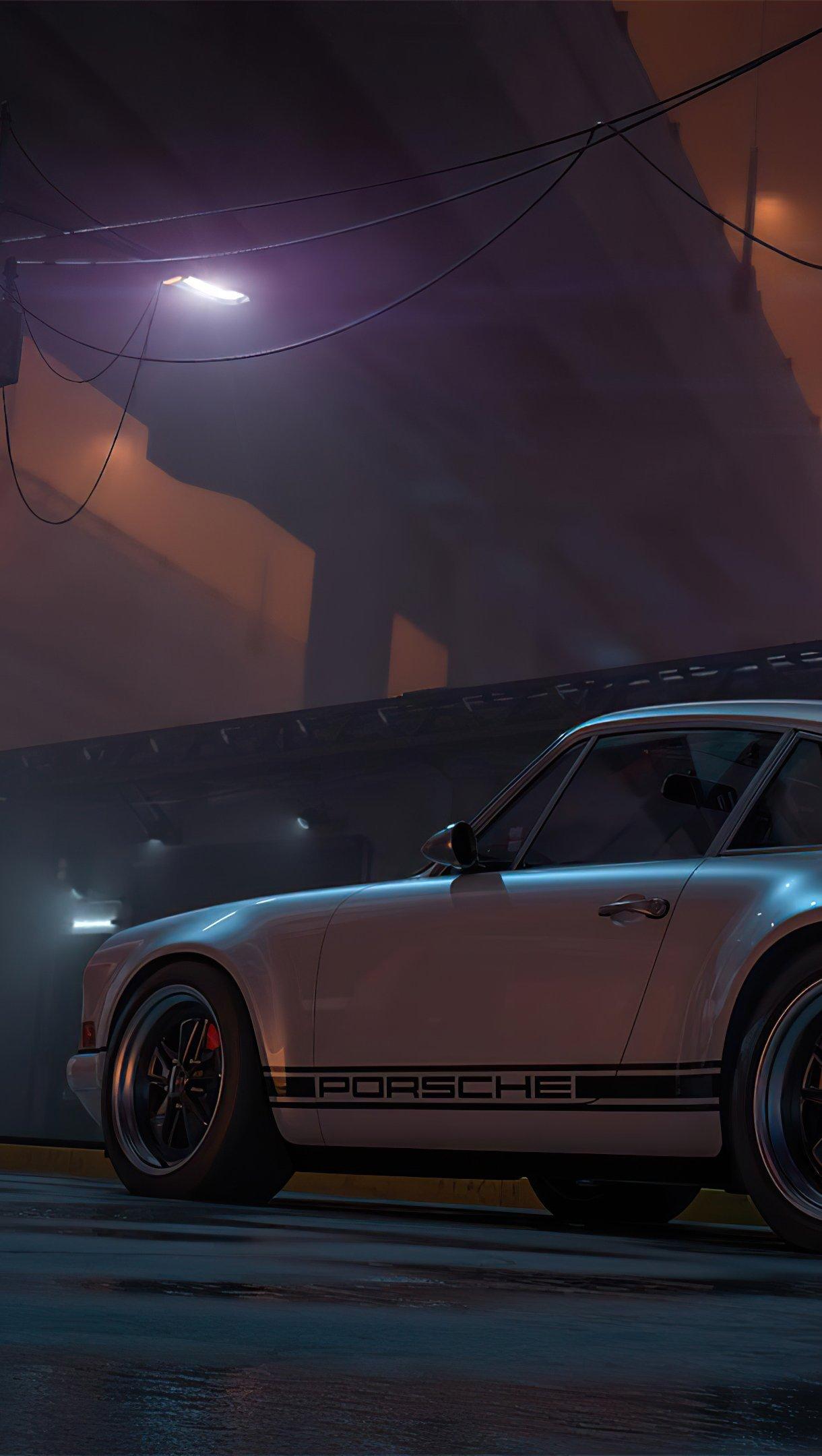 Wallpaper Porsche Outrun Vertical