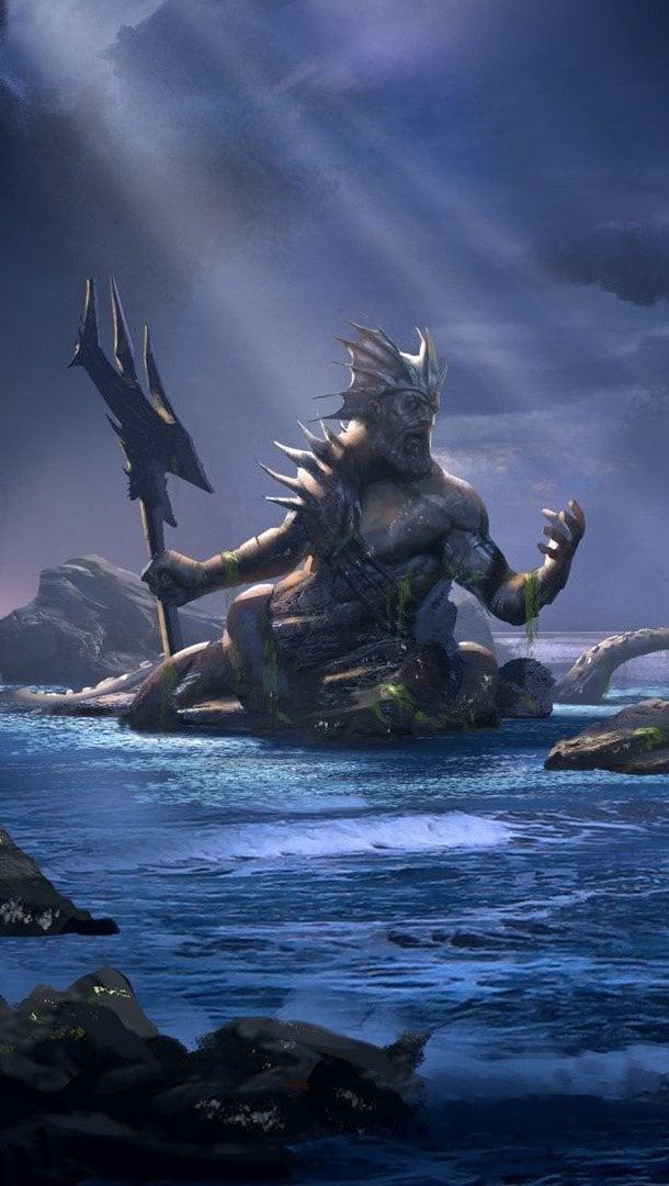 Wallpaper Poseidon in God of War Ascension Vertical