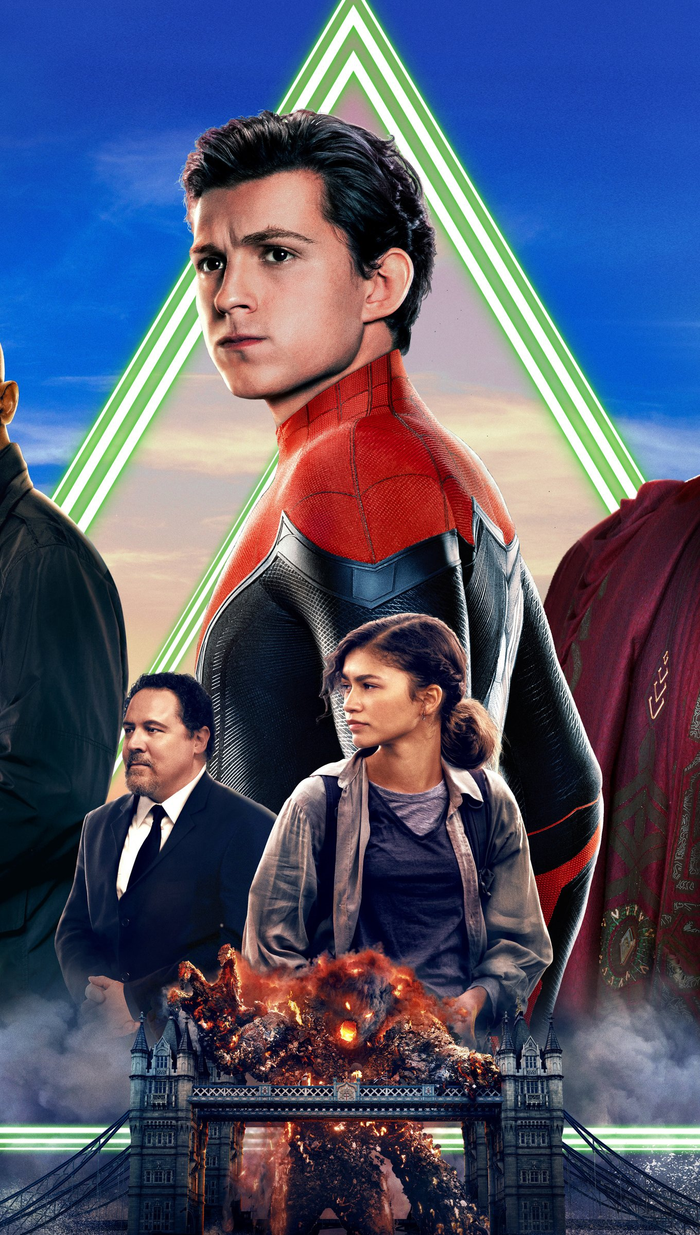 Wallpaper Poster with Characters from Spider Man: Far from home Vertical