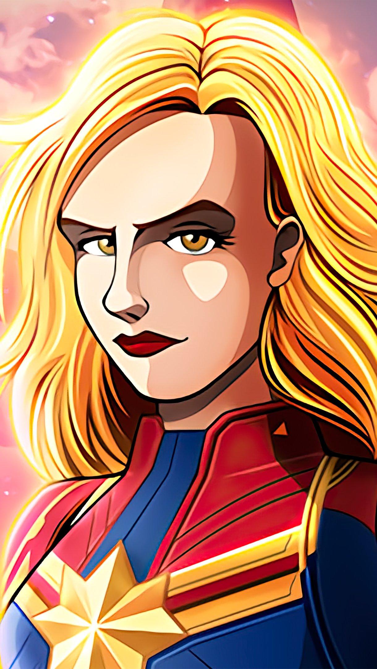 Wallpaper Captain Marvel Comic Poster Vertical