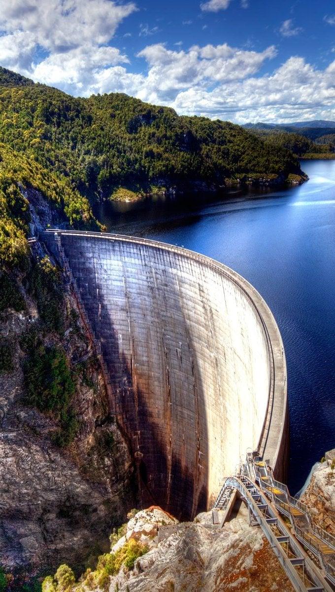 Fondos de pantalla Presa Gordon en Tasmania Australia Vertical