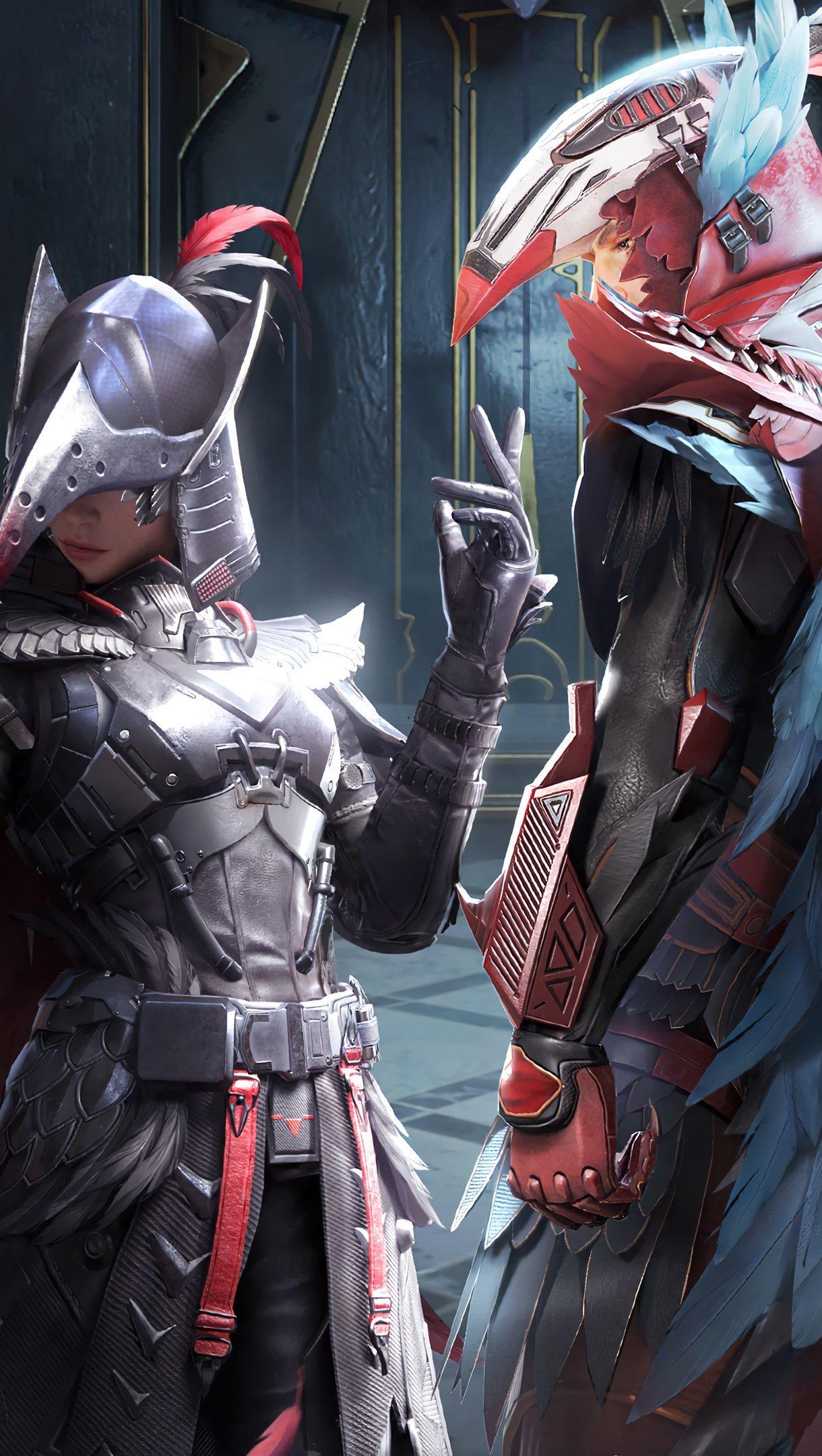 Wallpaper PUBG Mobile Blood Raven x Suit Set Outfit Vertical