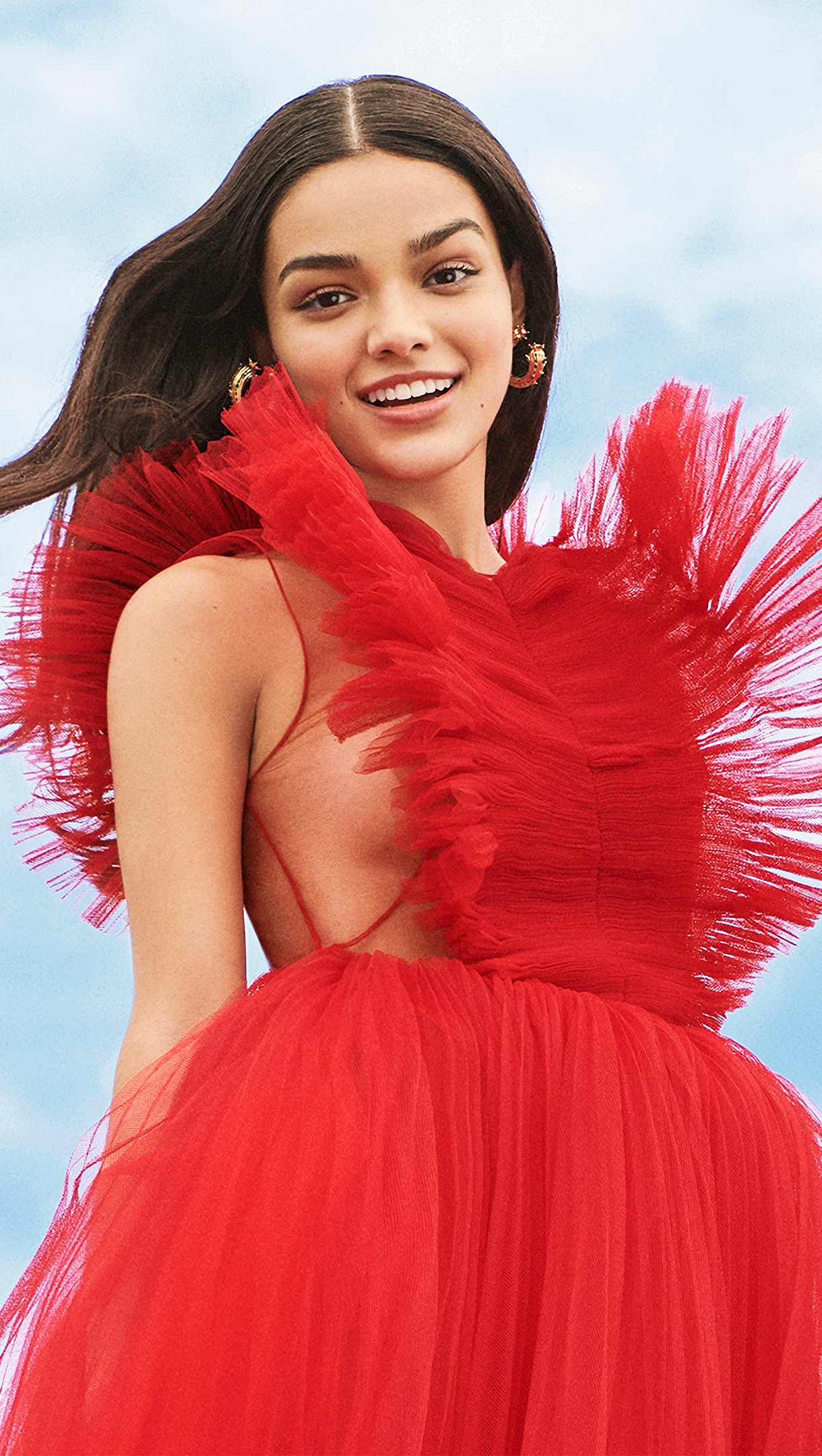 Wallpaper Rachel Zegler red dress Vertical
