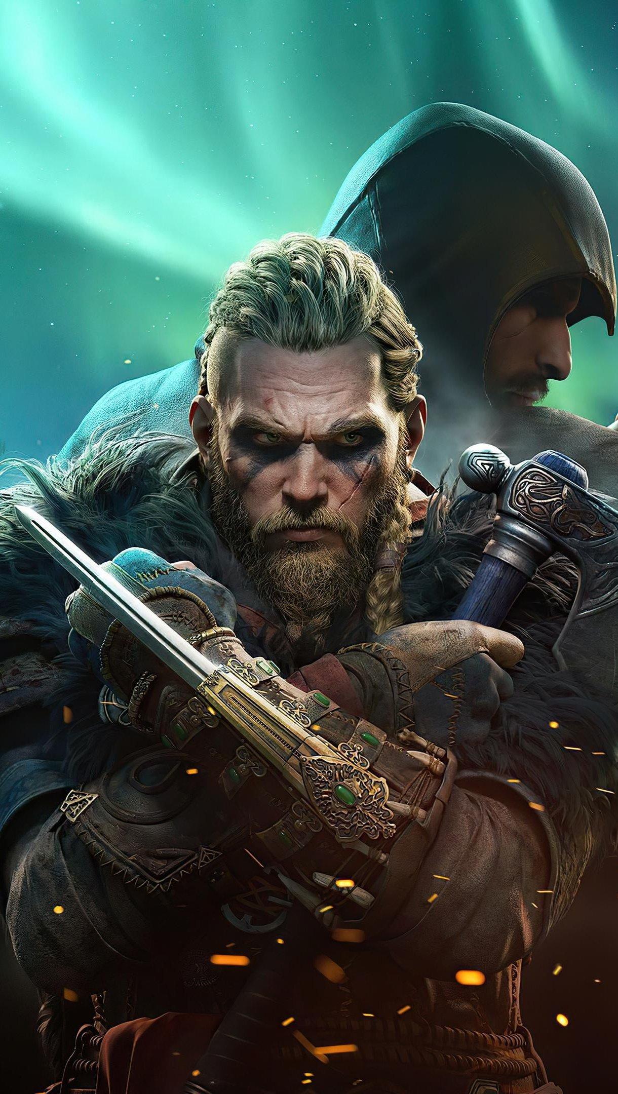 Wallpaper Ragnar Lothbrok from Assassins Creed Vertical