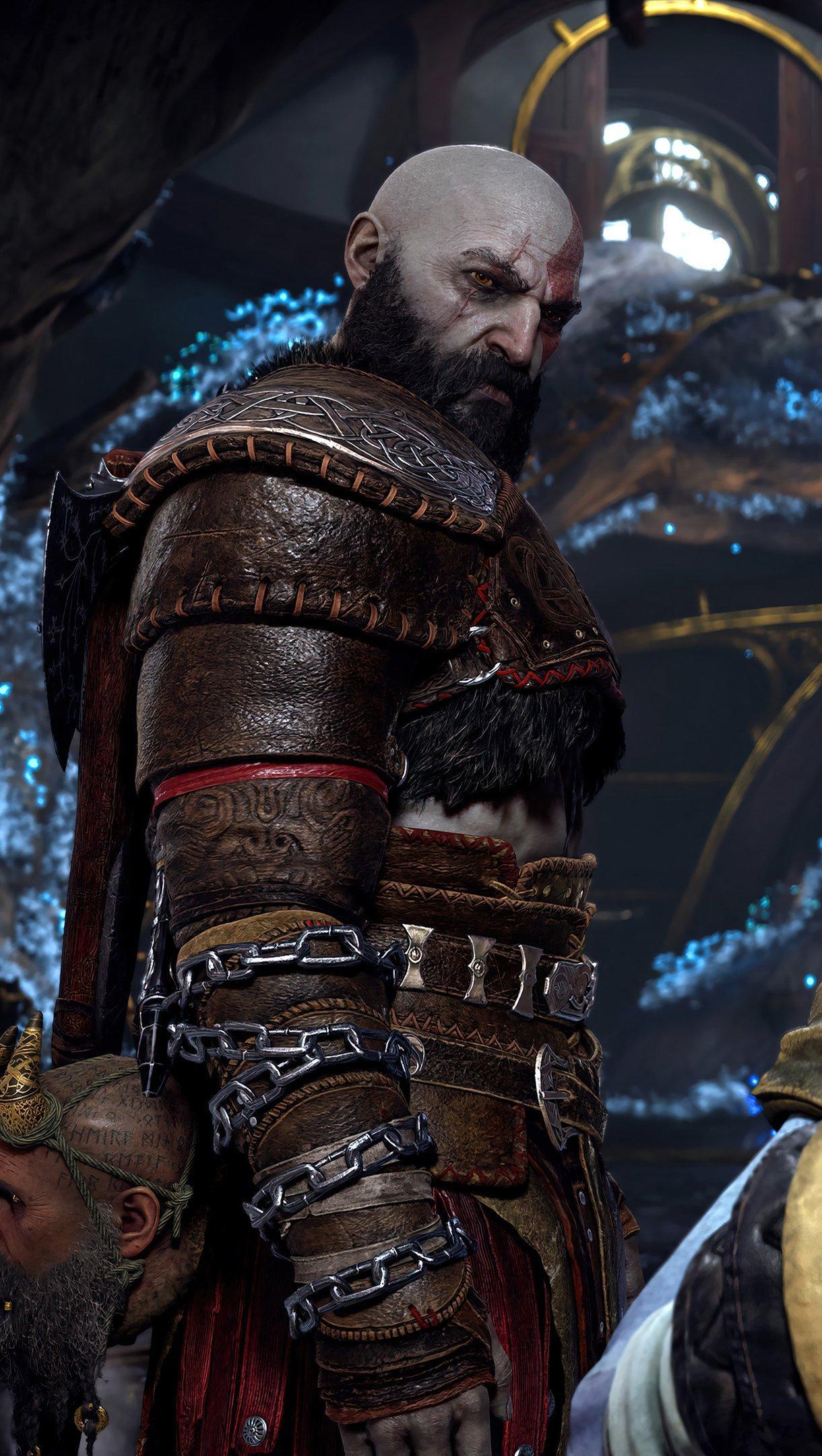 Fondos de pantalla Ragnarok Kratos y Atreus God of War Vertical