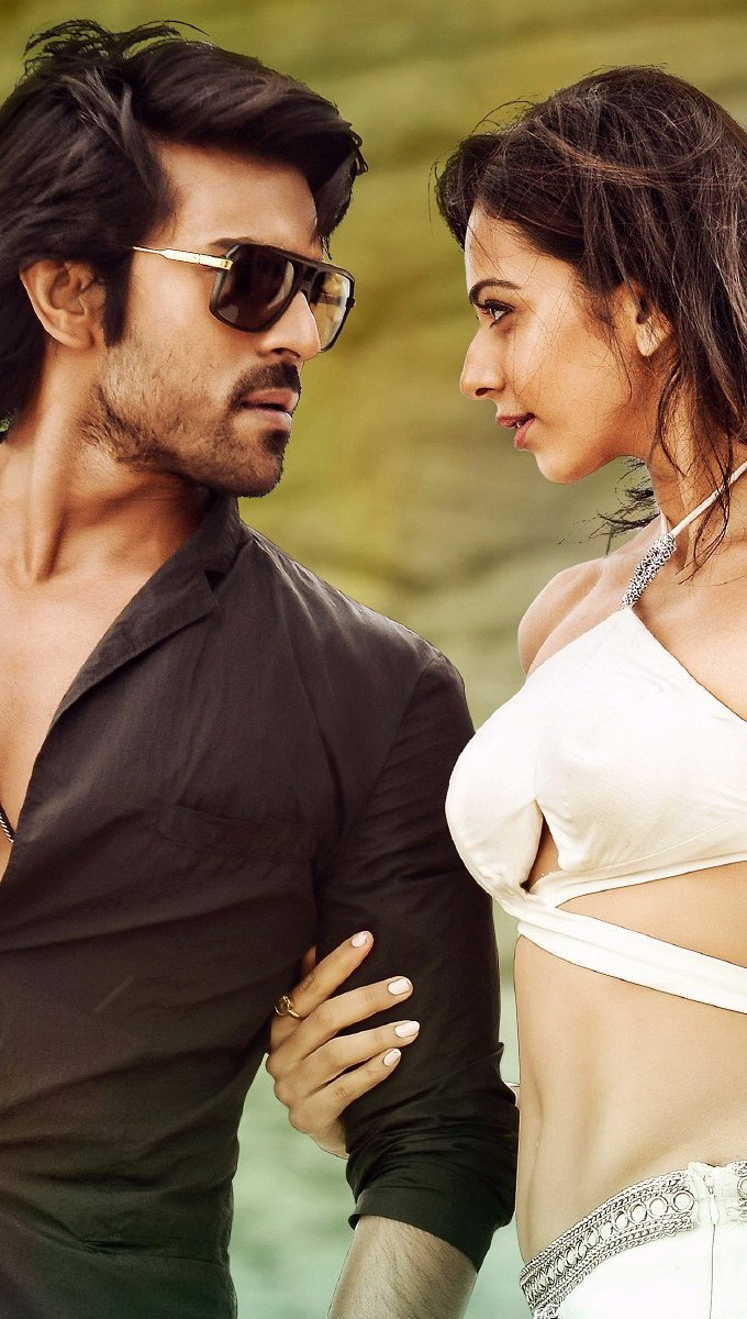 Wallpaper Ram Charan and Rakul Preet in Bruce Lee Vertical
