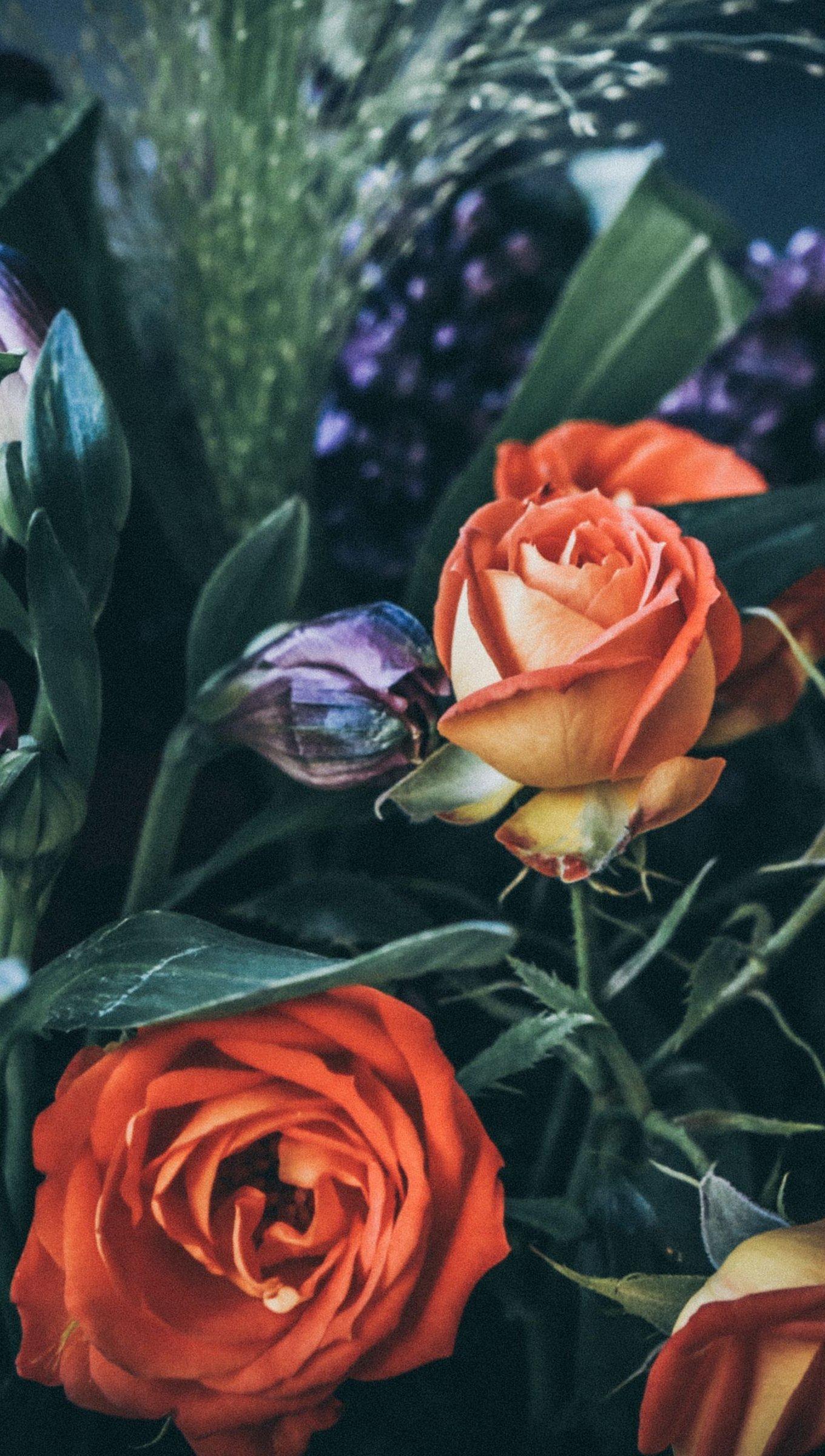 Fondos de pantalla Ramo de rosas Vertical