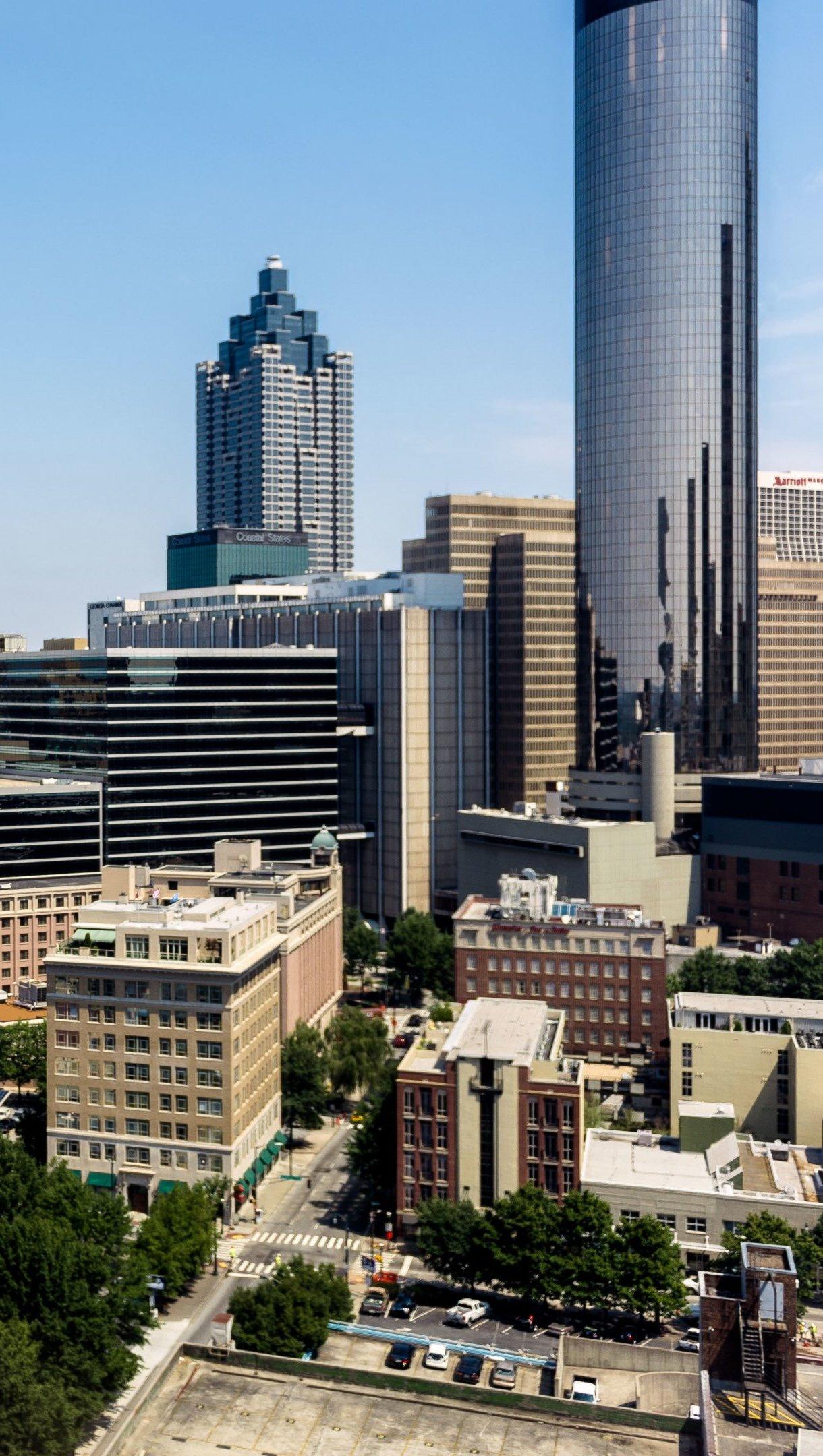 Fondos de pantalla Rascacielos en Atlanta Georgia Vertical