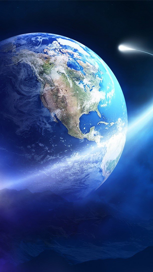 Wallpaper Earth orbit Vertical