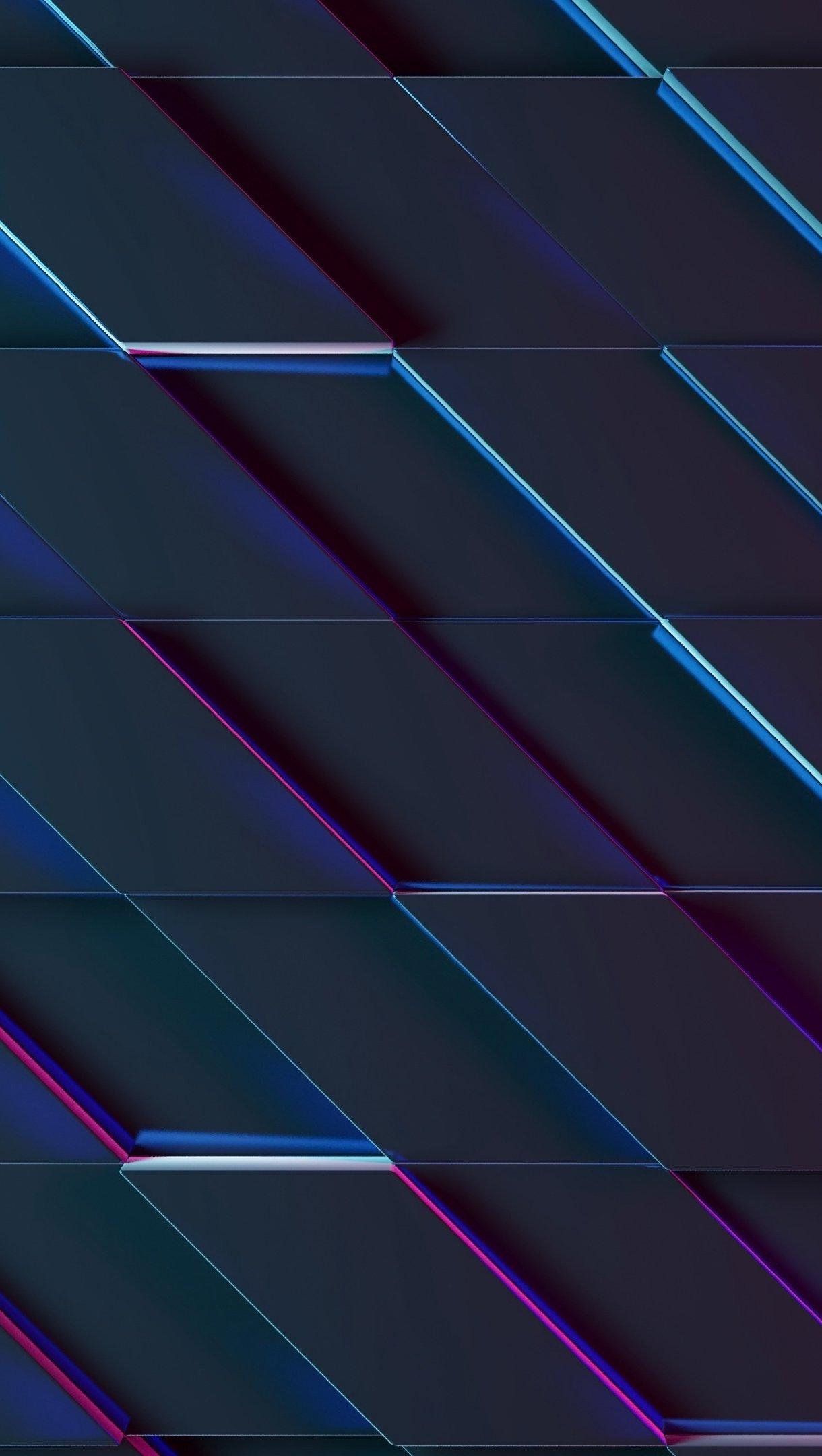 Fondos de pantalla Rectángulos iluminación neón 3D Vertical