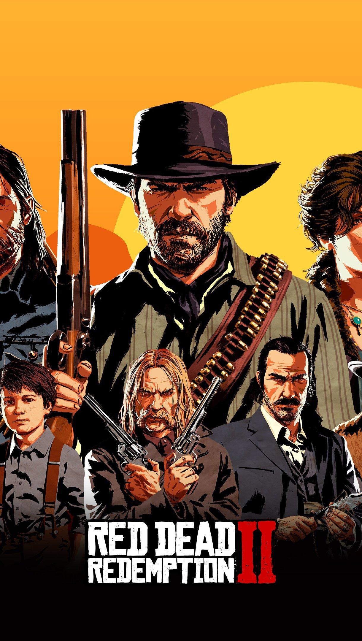 Fondos de pantalla Red Dead Redemption 2 Cover Personajes Vertical