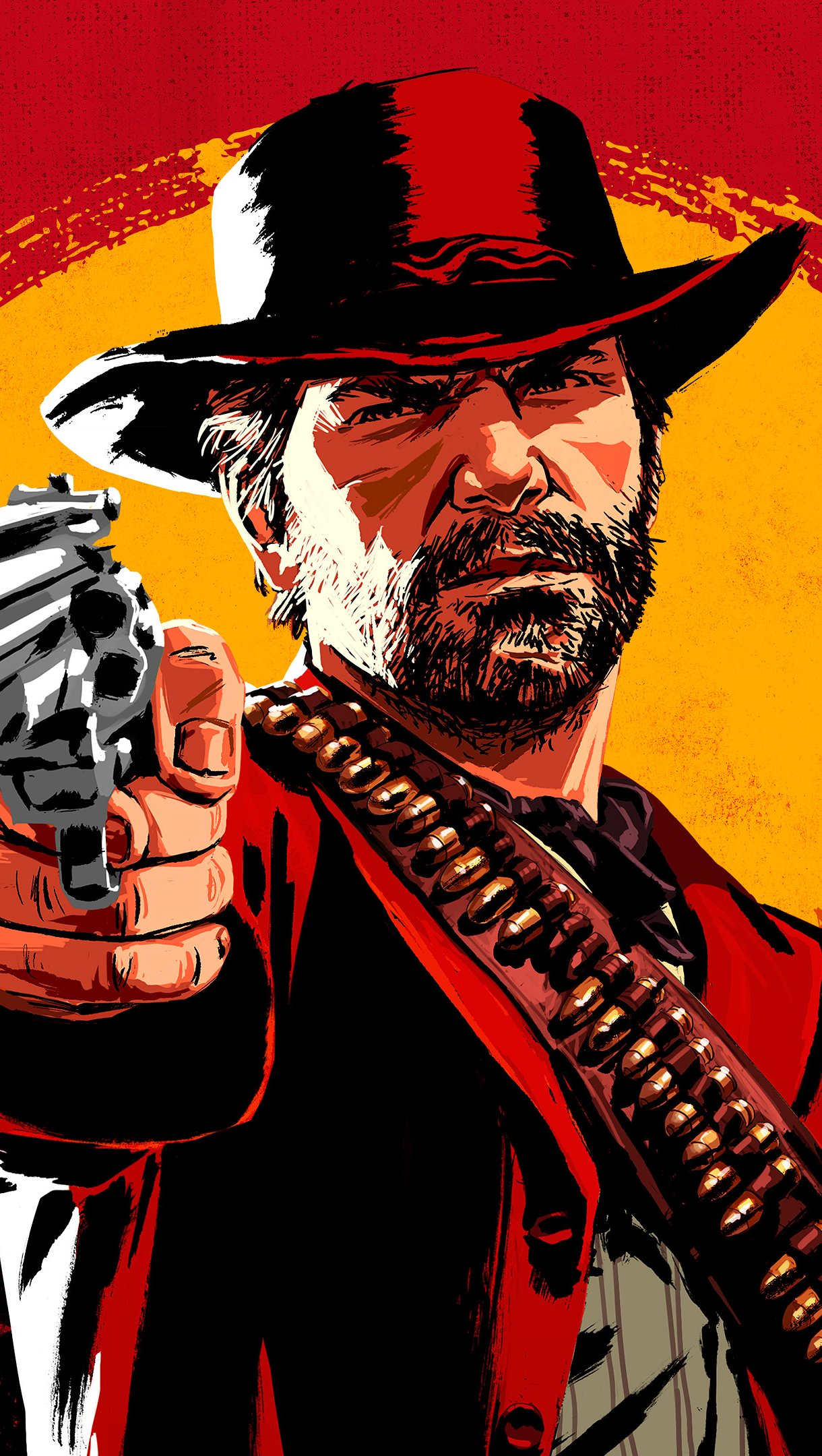 Wallpaper Red Dead Redemption 2 Cover Vertical