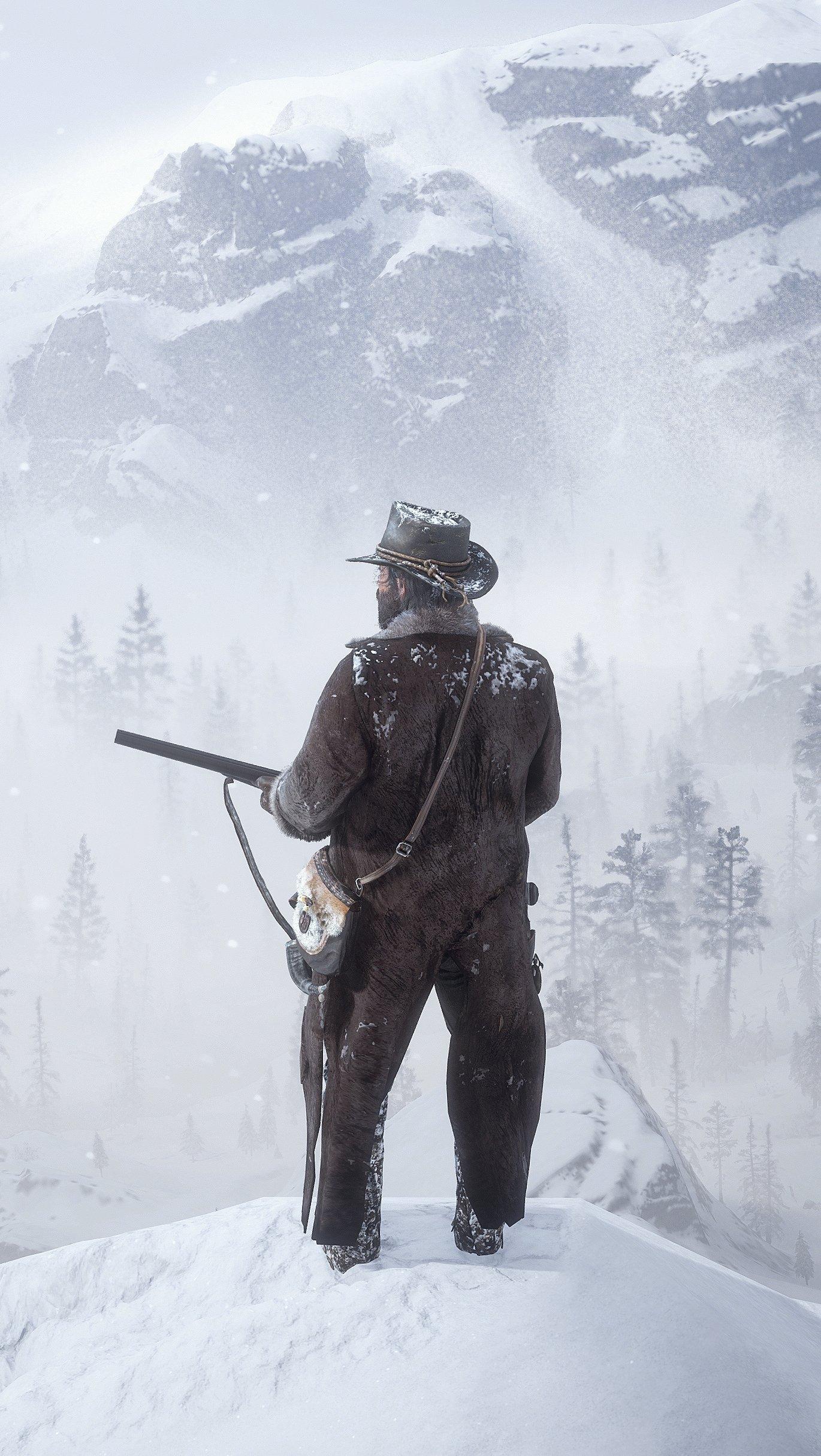Fondos de pantalla Red Dead Redemption 2 The bounty hunter Vertical