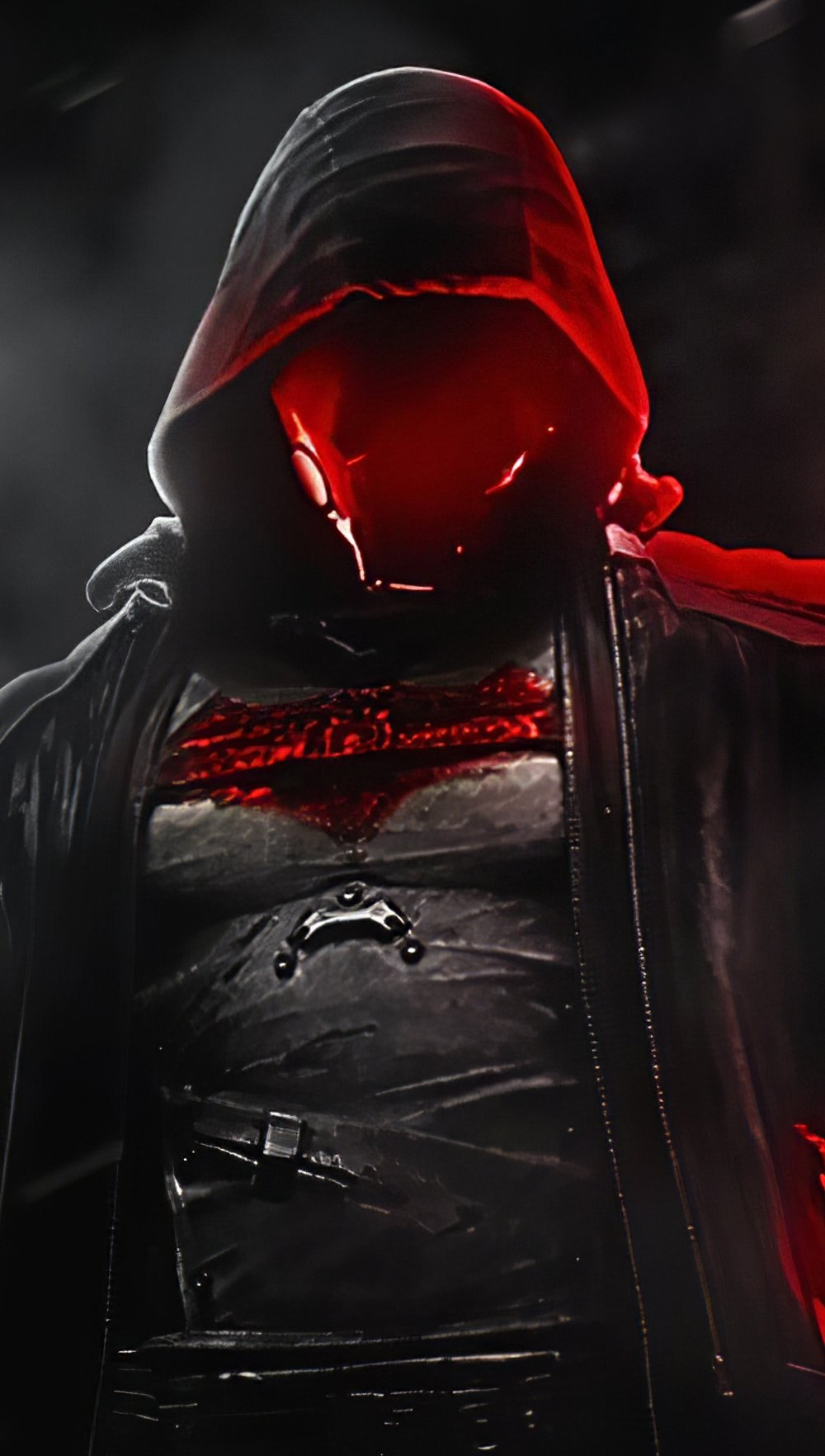Wallpaper Red Hood in the night Vertical