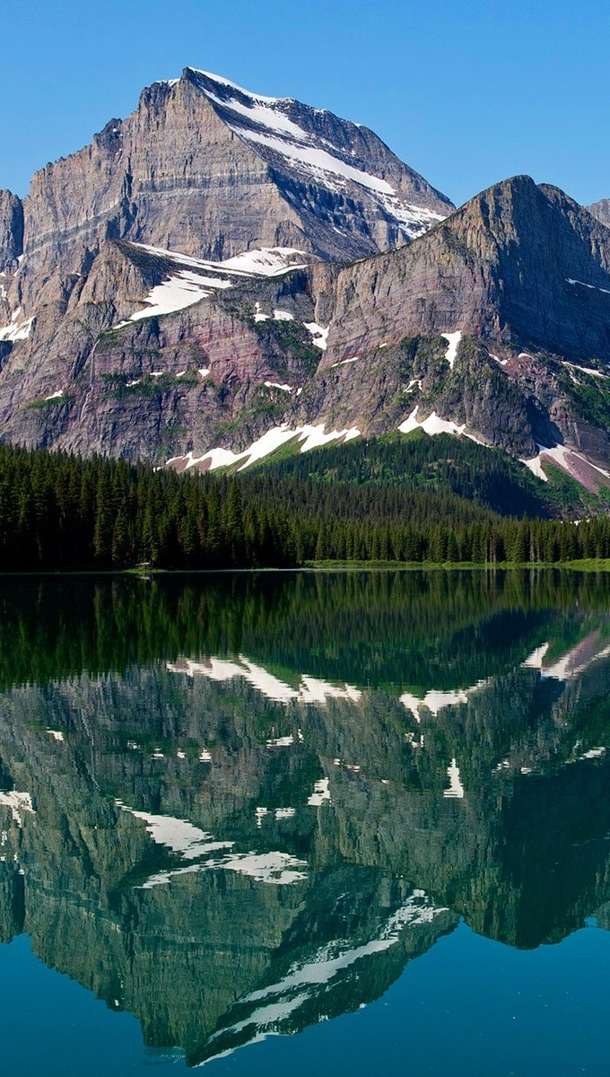 Wallpaper Reflections of mountains Vertical