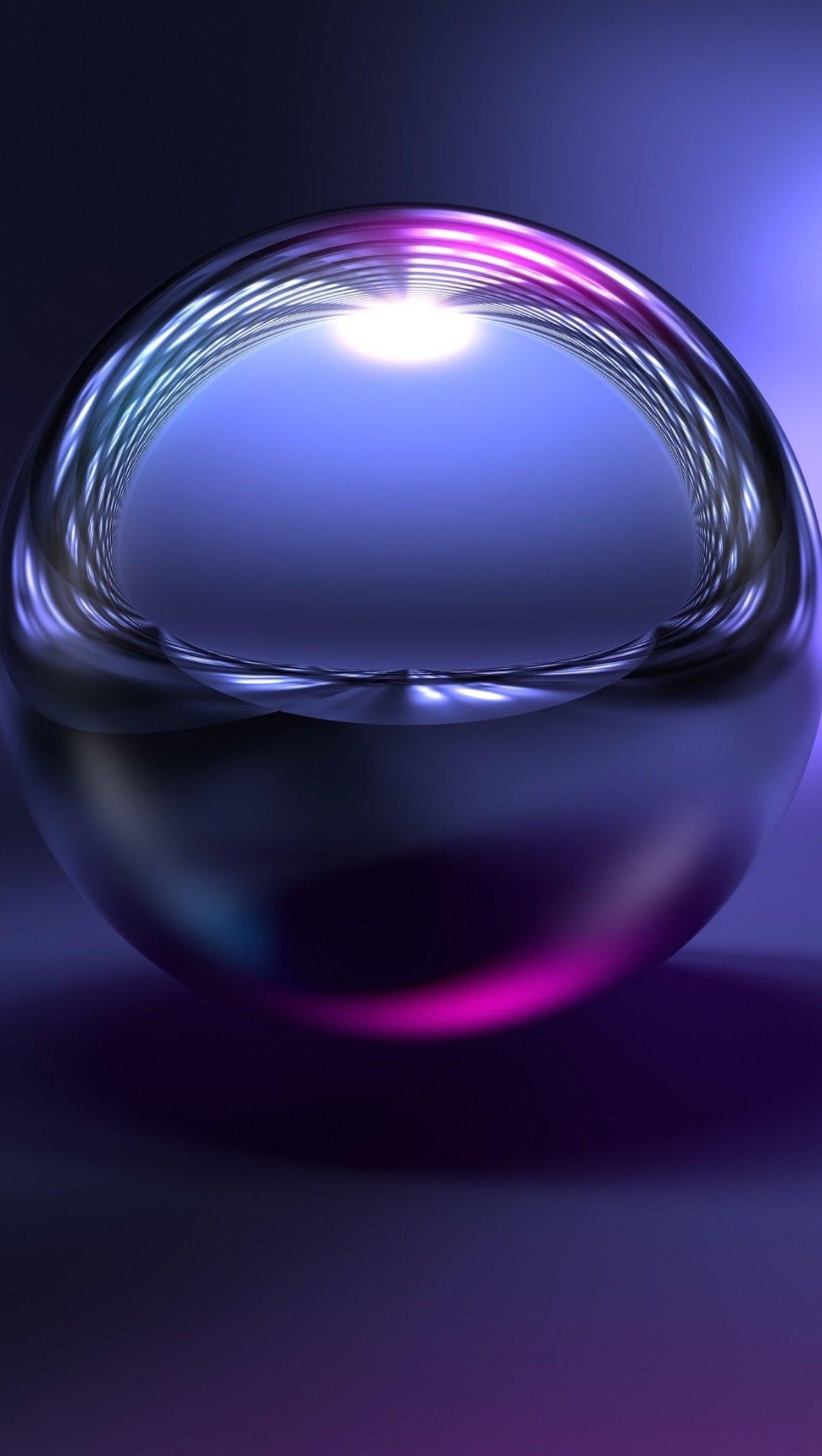 Wallpaper Reflections in metal ball Vertical