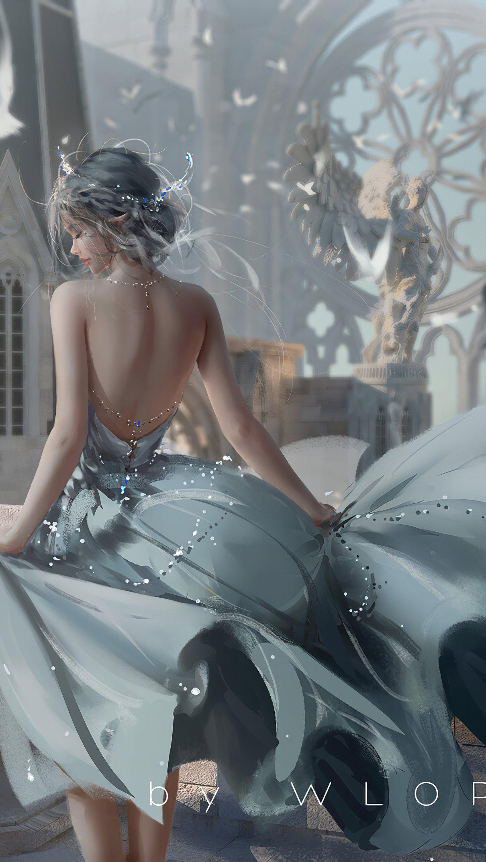 Fondos de pantalla Reina blanca en castillo Vertical