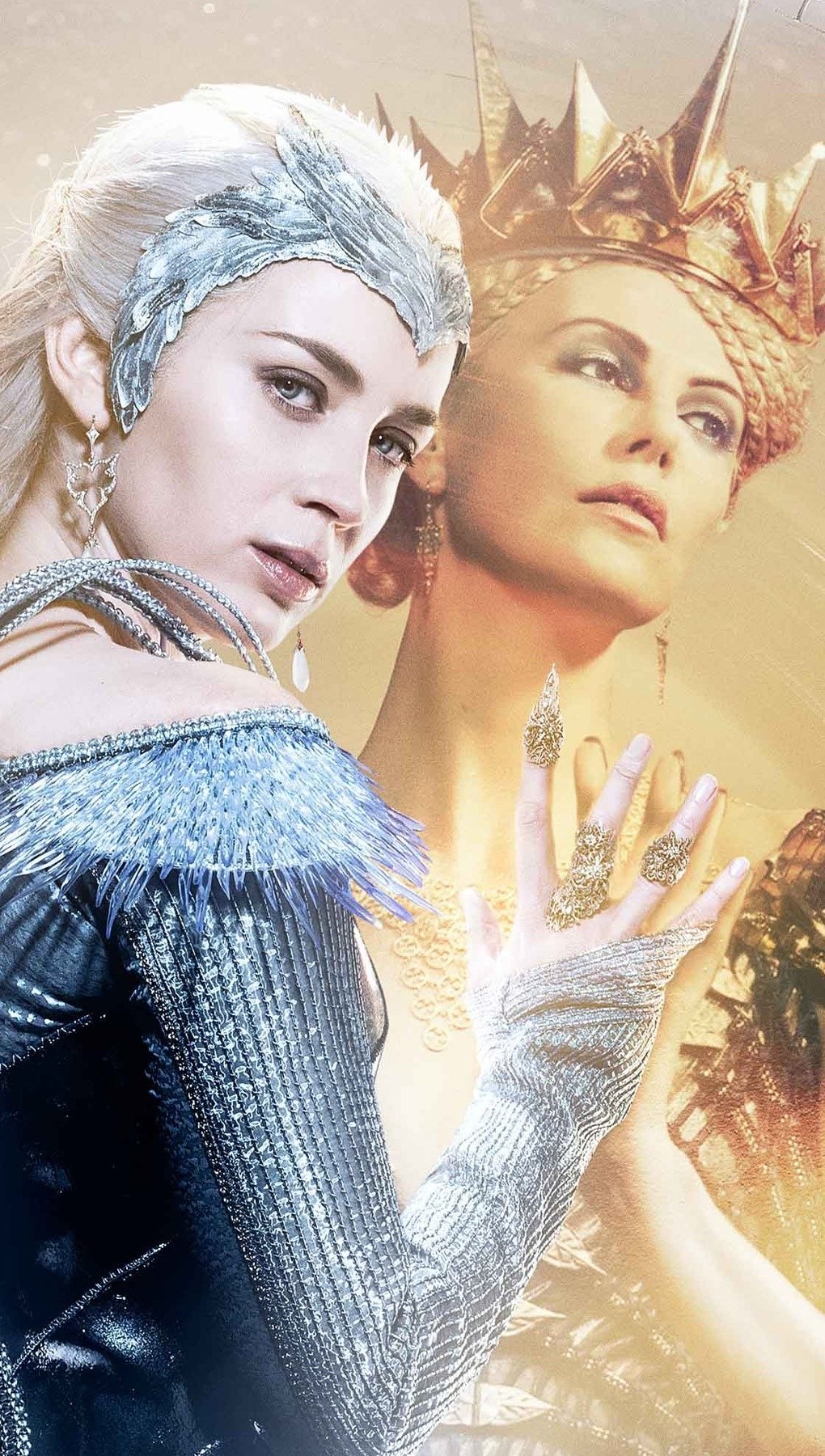 Wallpaper Ice queen in The hunter and the ice queen Vertical