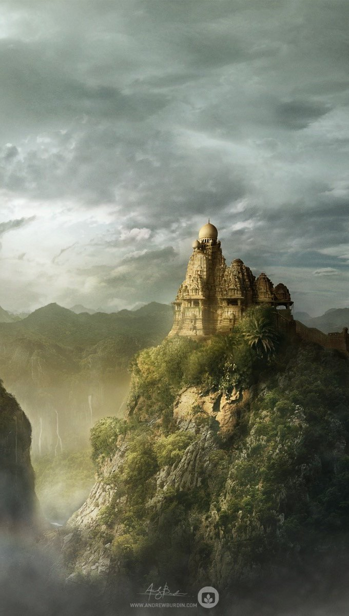 Wallpaper Kingdom of the mountain Vertical