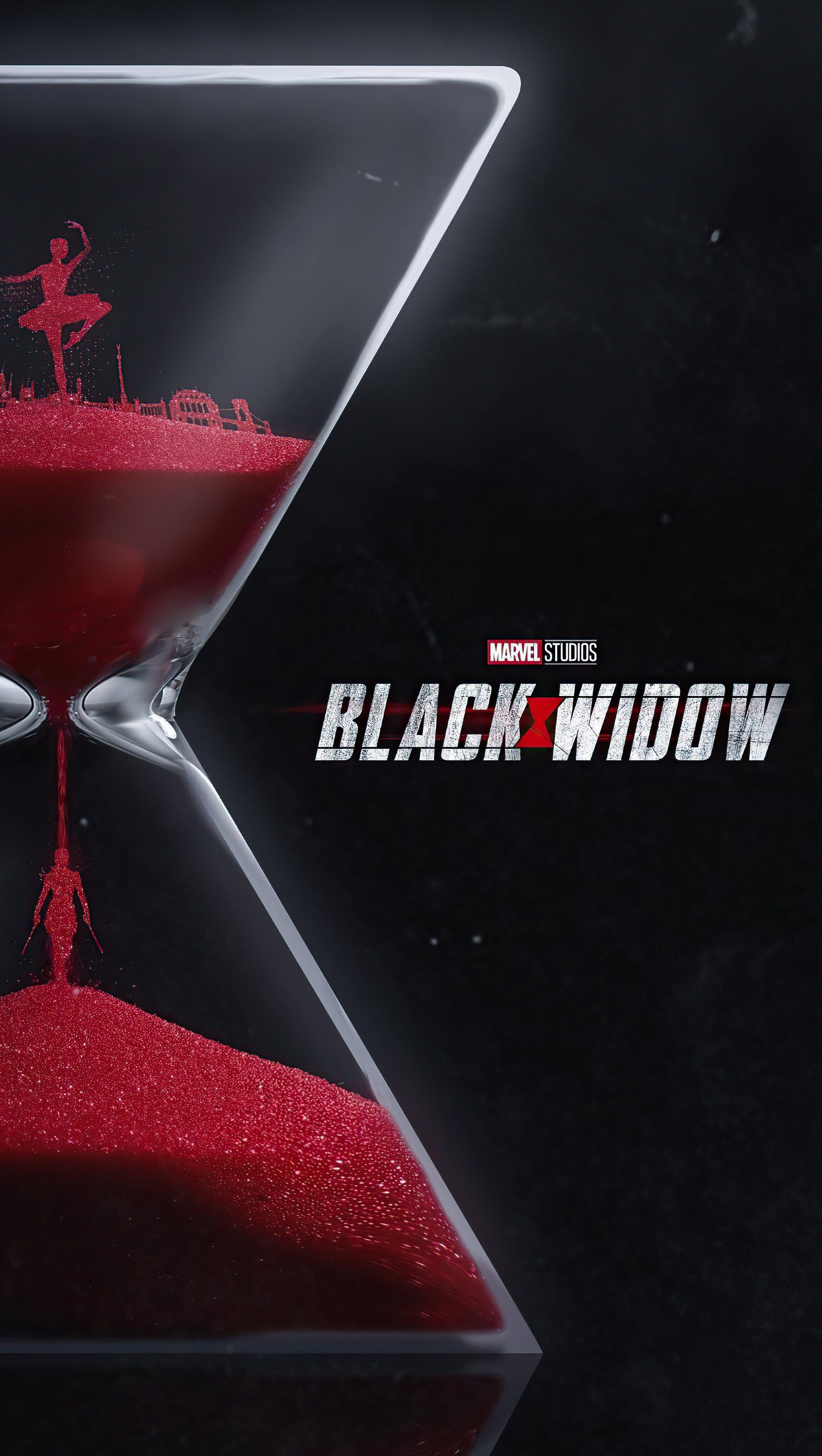 Wallpaper Hourglass Black Widow Vertical