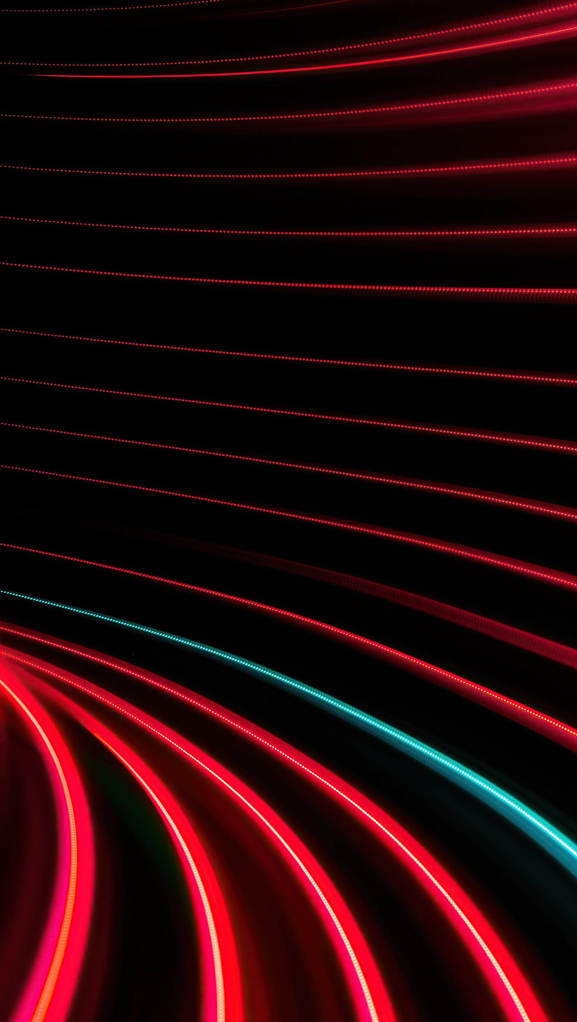 Fondos de pantalla Remolino de lineas rojas y negras Vertical