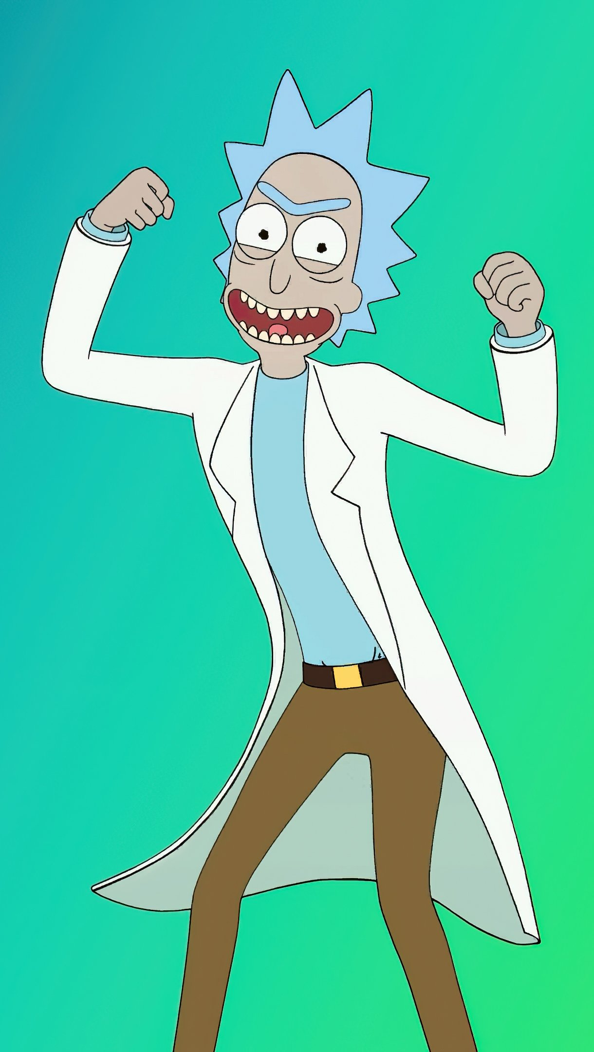 Wallpaper Rick and Morty dancing Vertical