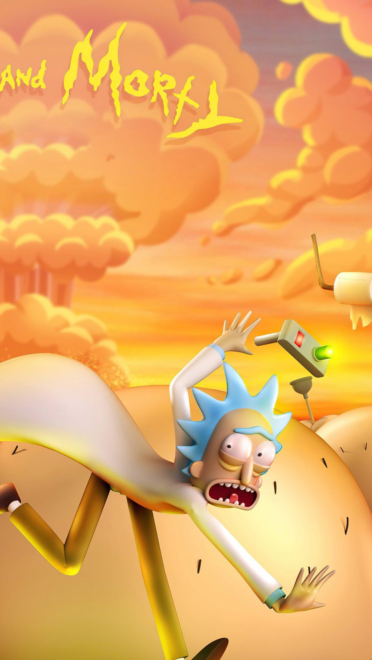 Fondos de pantalla Rick and Morty en 3D Vertical