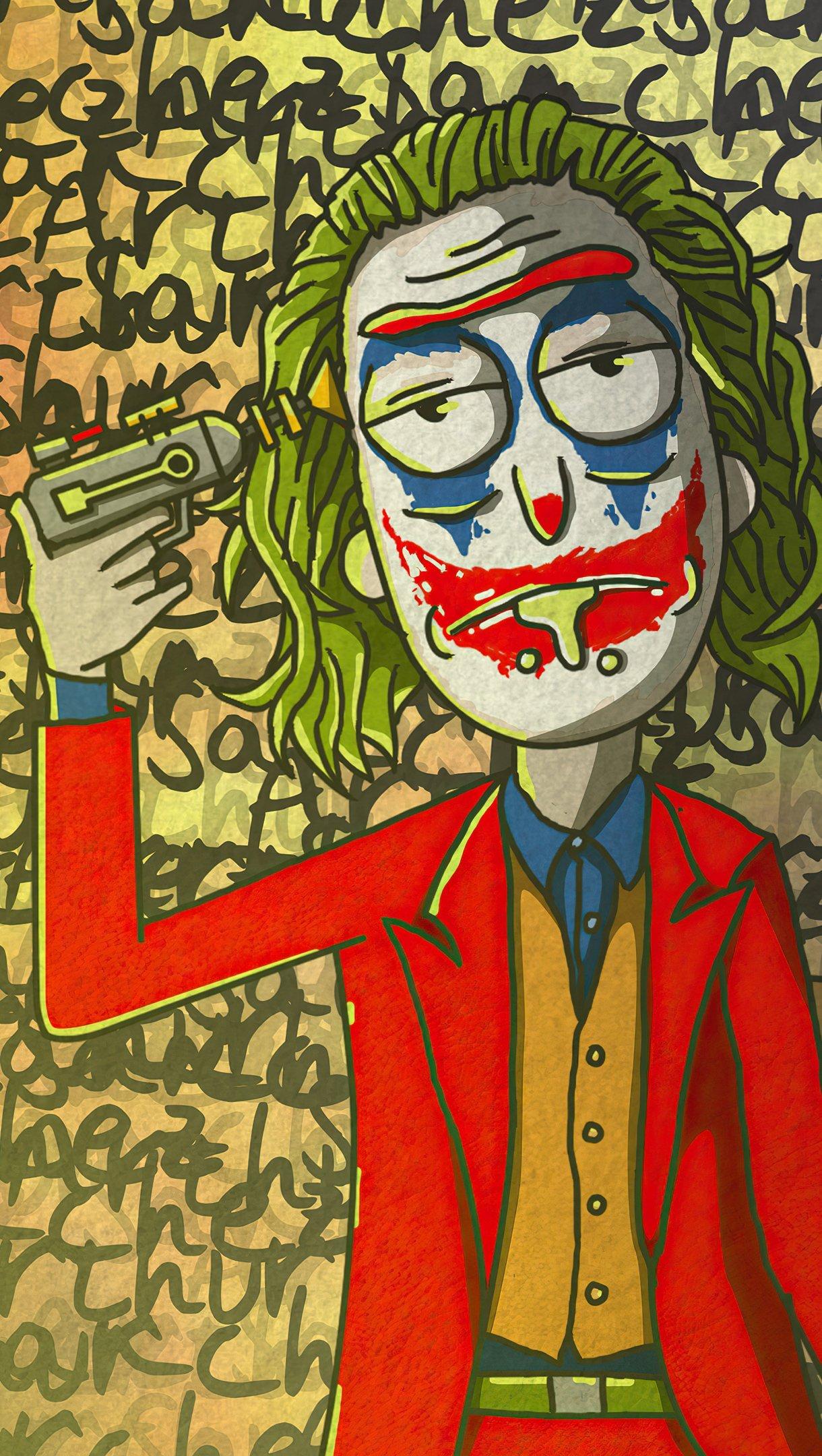 Fondos de pantalla Rick Sanchez como el Guasón Vertical