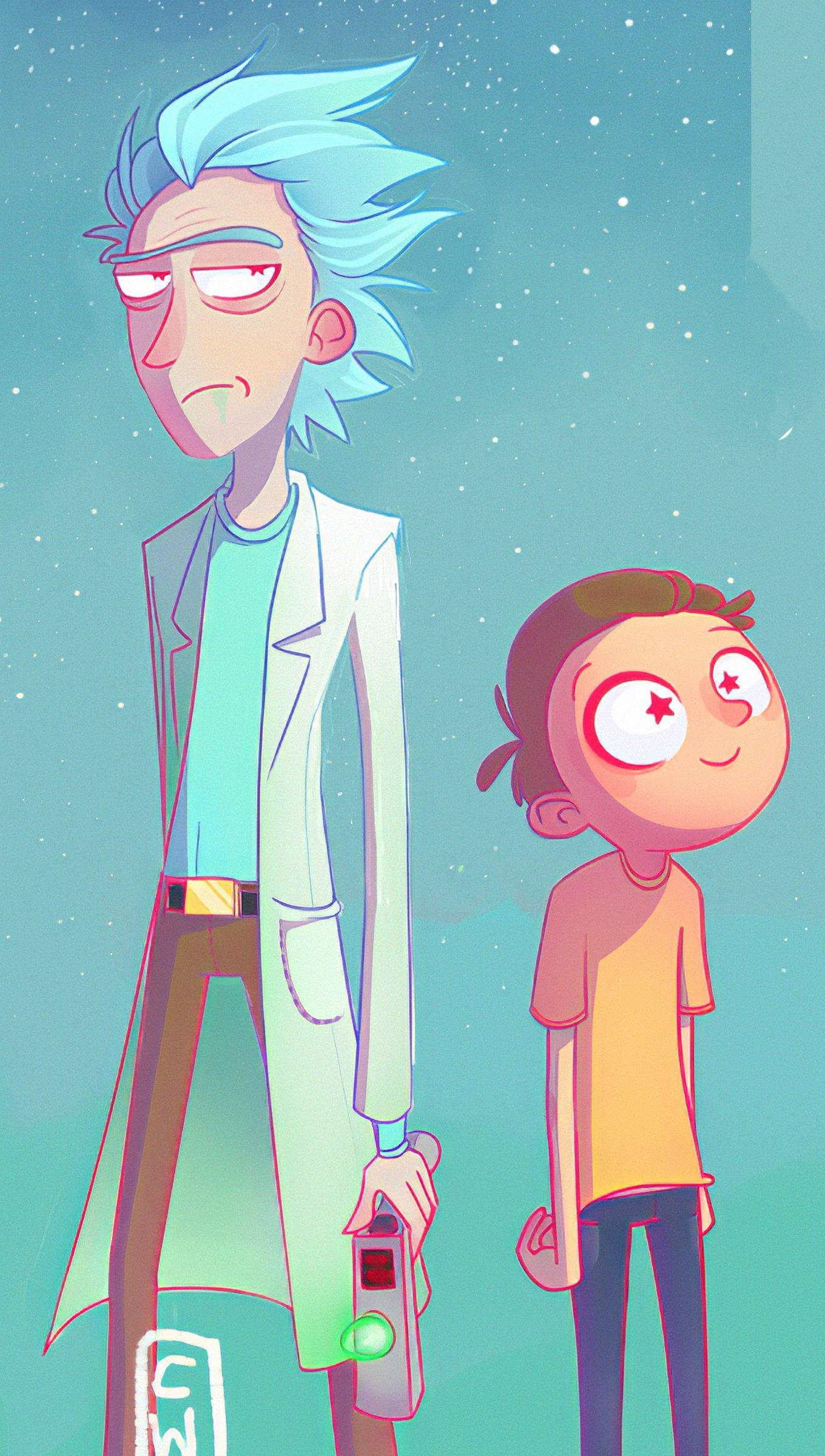 Fondos de pantalla Rick y Morty Artwork Vertical