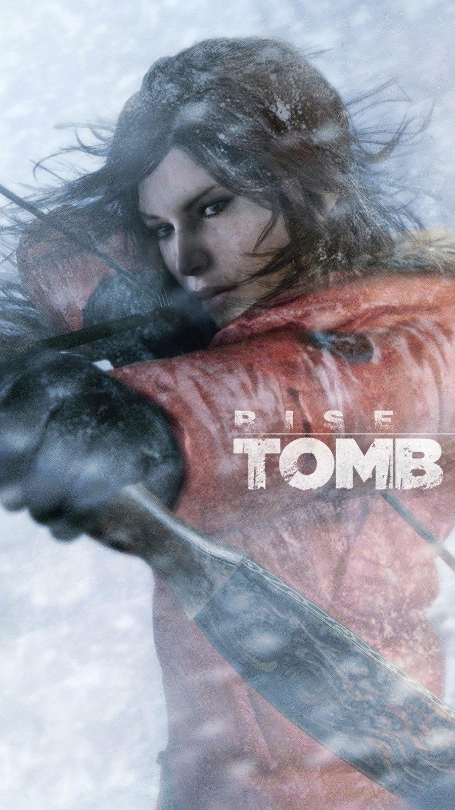 Fondos de pantalla Rise Of The Tomb Raider en nieve Vertical