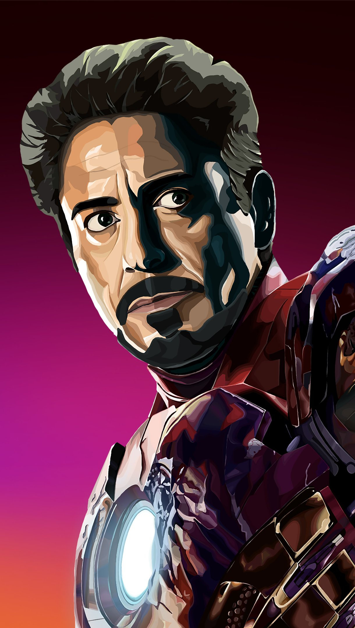 Fondos de pantalla Robert Downey Jr como Tony Stark Iron Man Fanart Vertical