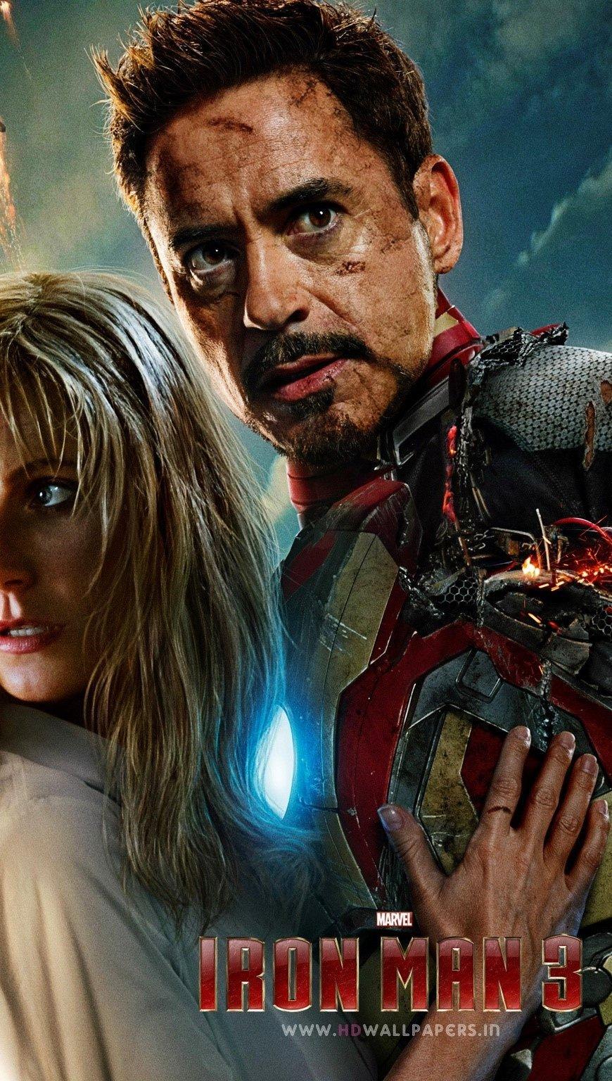 Wallpaper Robert Downey Jr in Iron Man 3 Vertical
