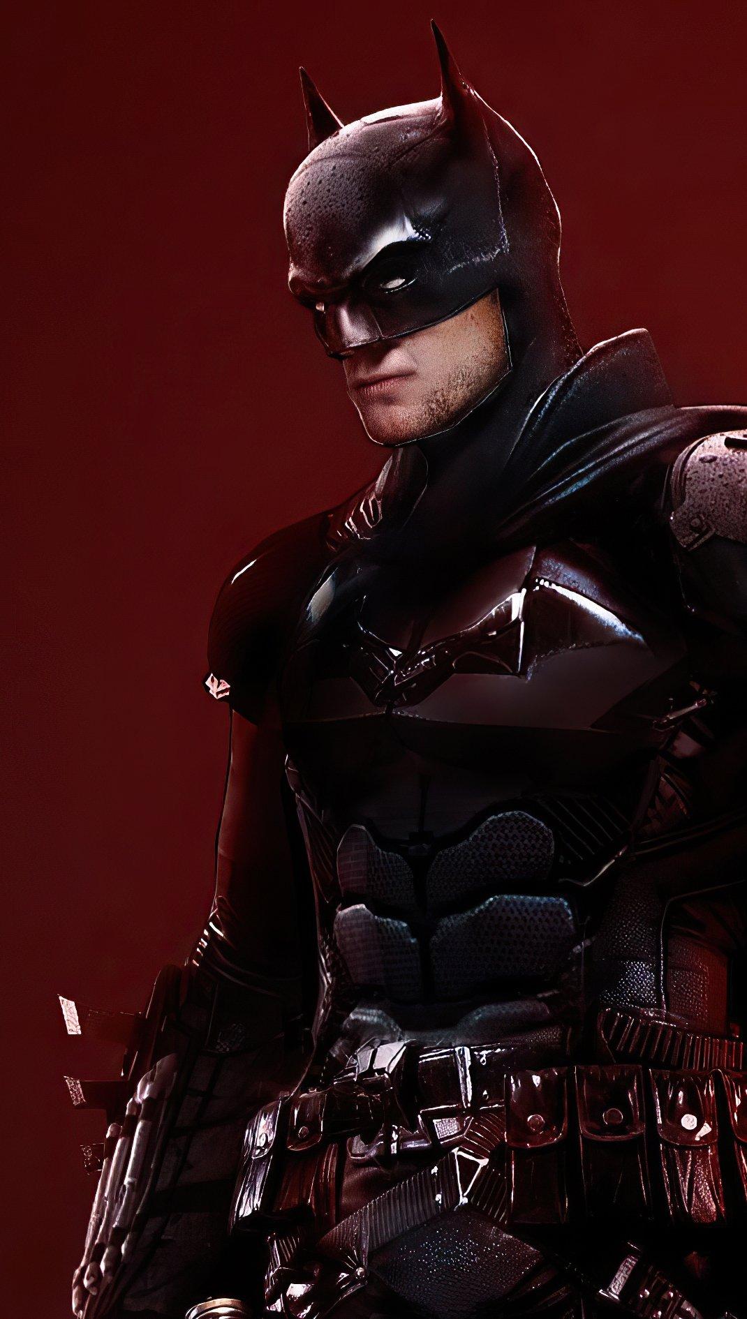Wallpaper Robert Pattinson as Batman 2021 Vertical