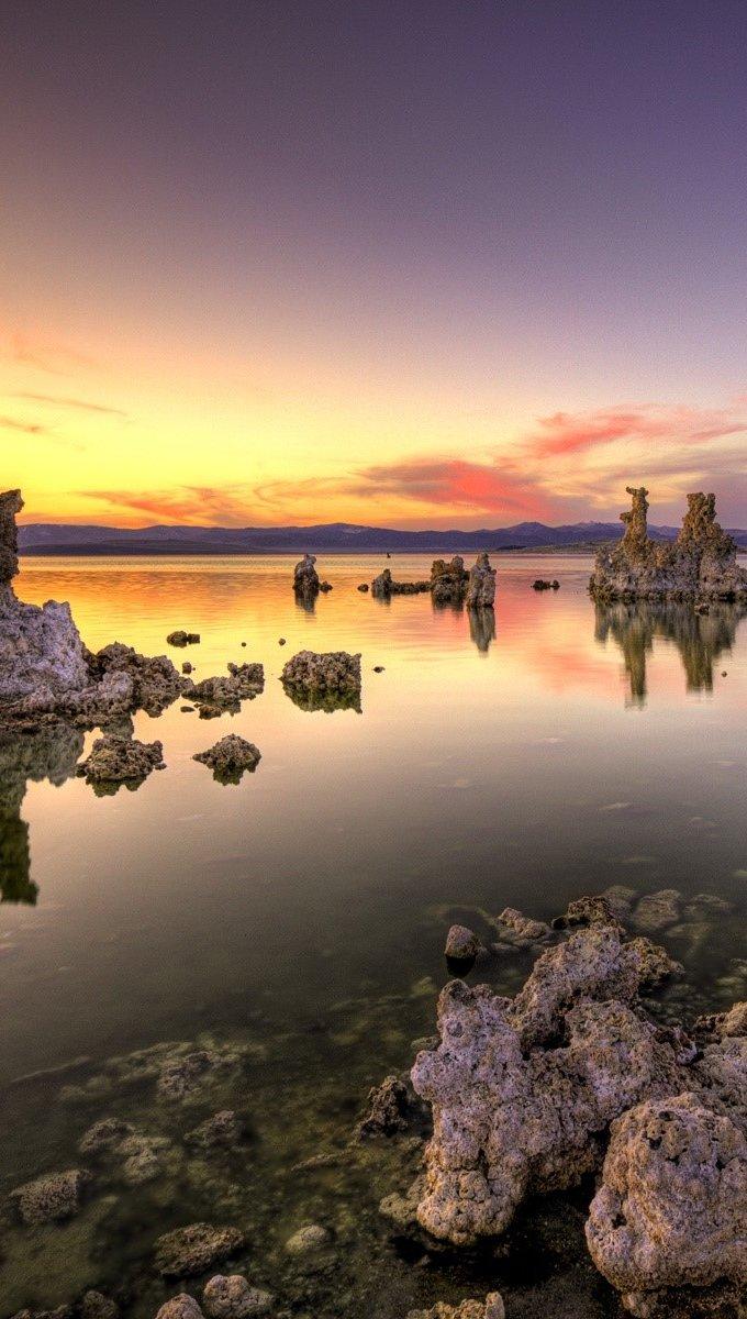Wallpaper Rocks and sunset Vertical