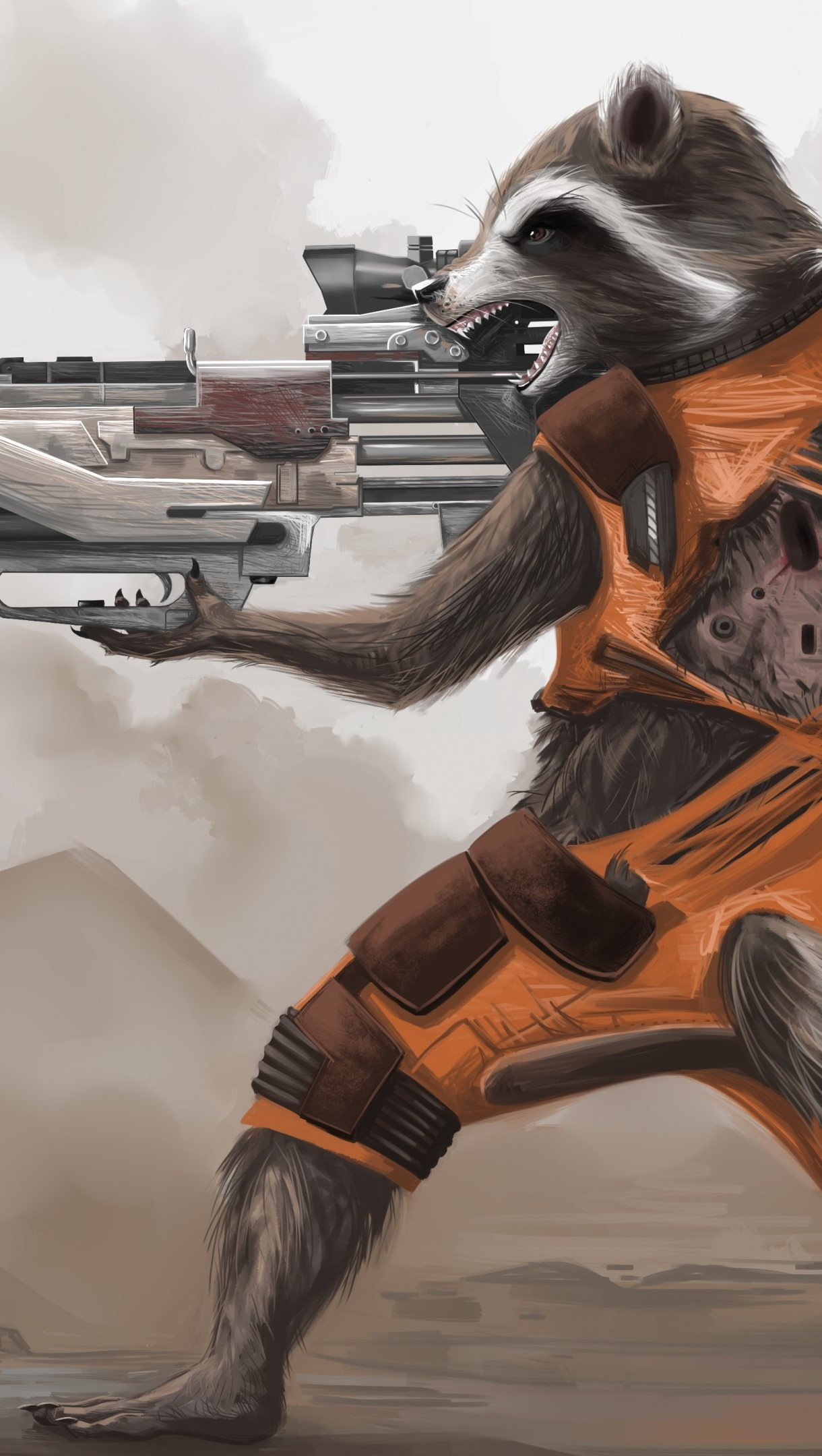Wallpaper Rocket Raccoon of Guardians of the Galaxy Vertical