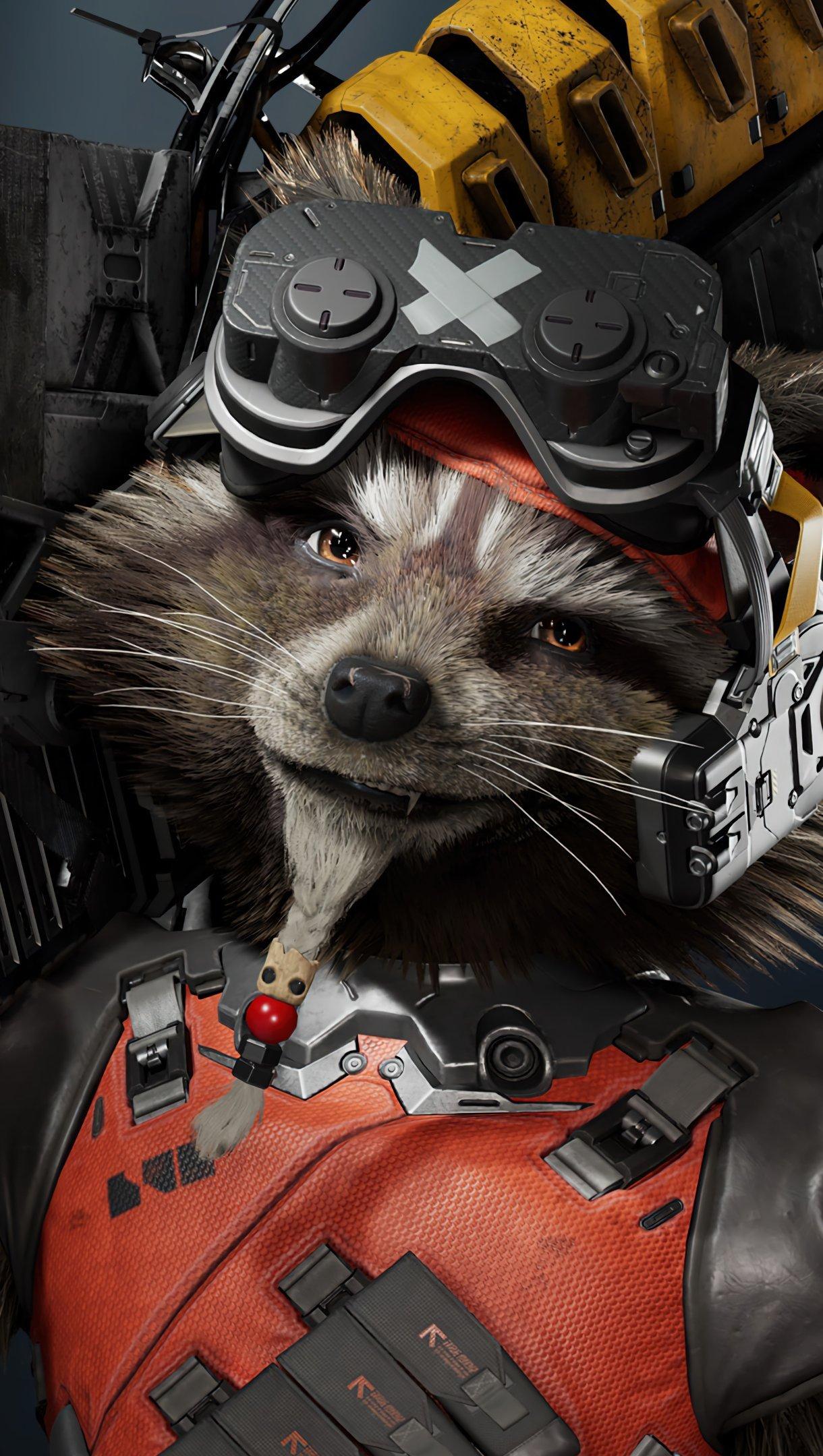 Wallpaper Rocket Raccoon Marvels Guardians of the galaxy Vertical