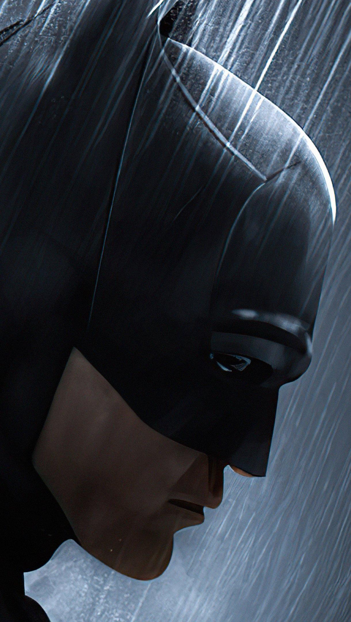 Wallpaper Robert Pattinson's face as Batman Vertical