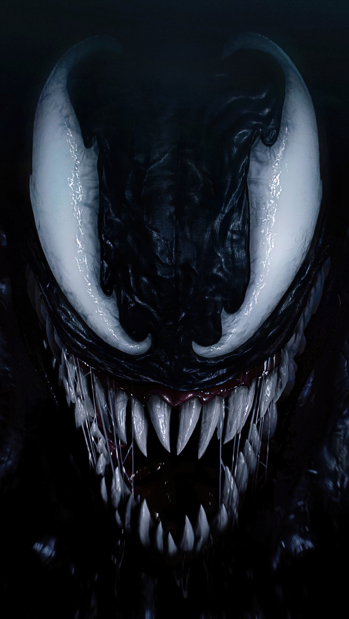 Wallpaper Venom's face Vertical