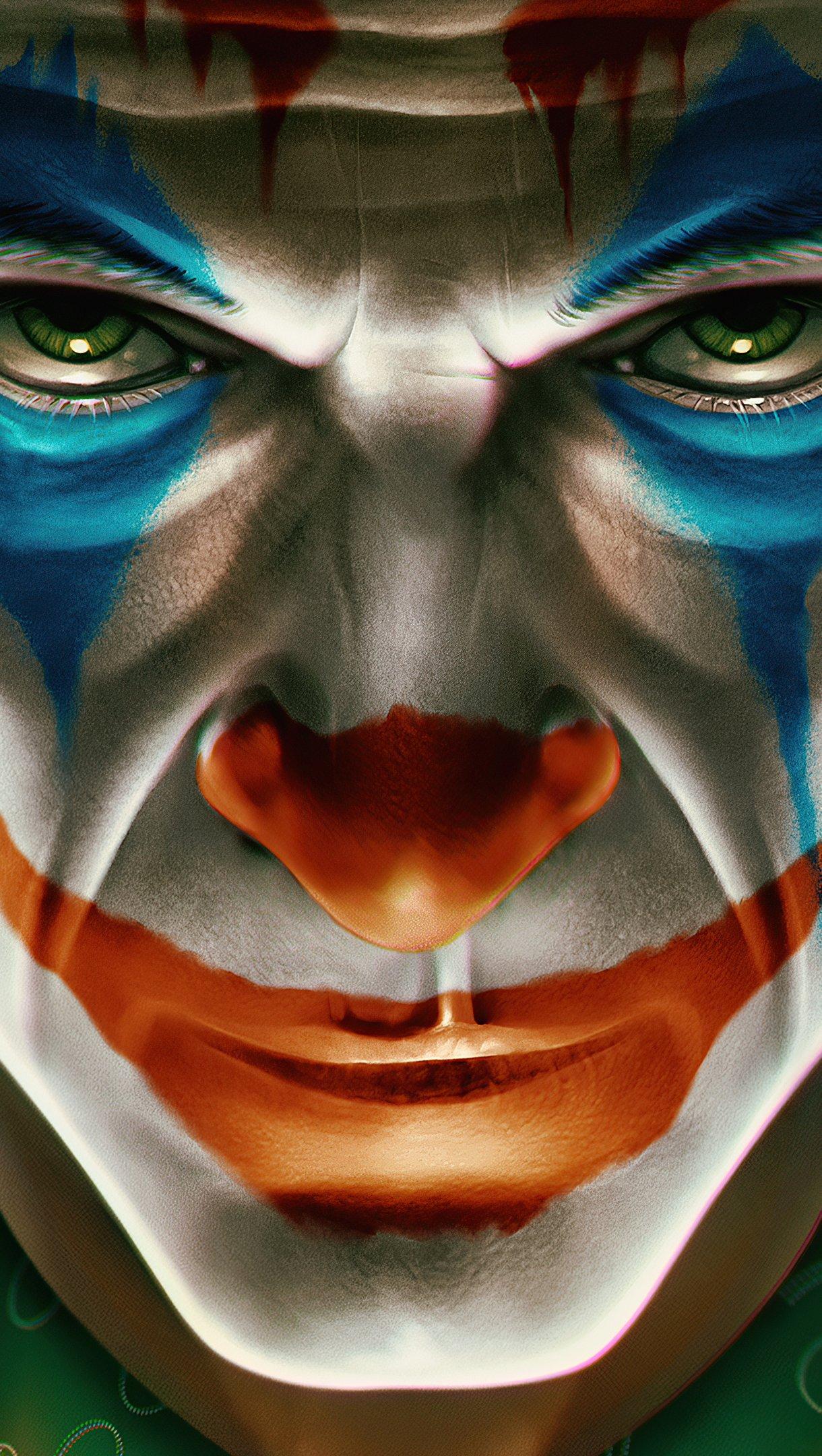 Wallpaper Joker's face upset Vertical