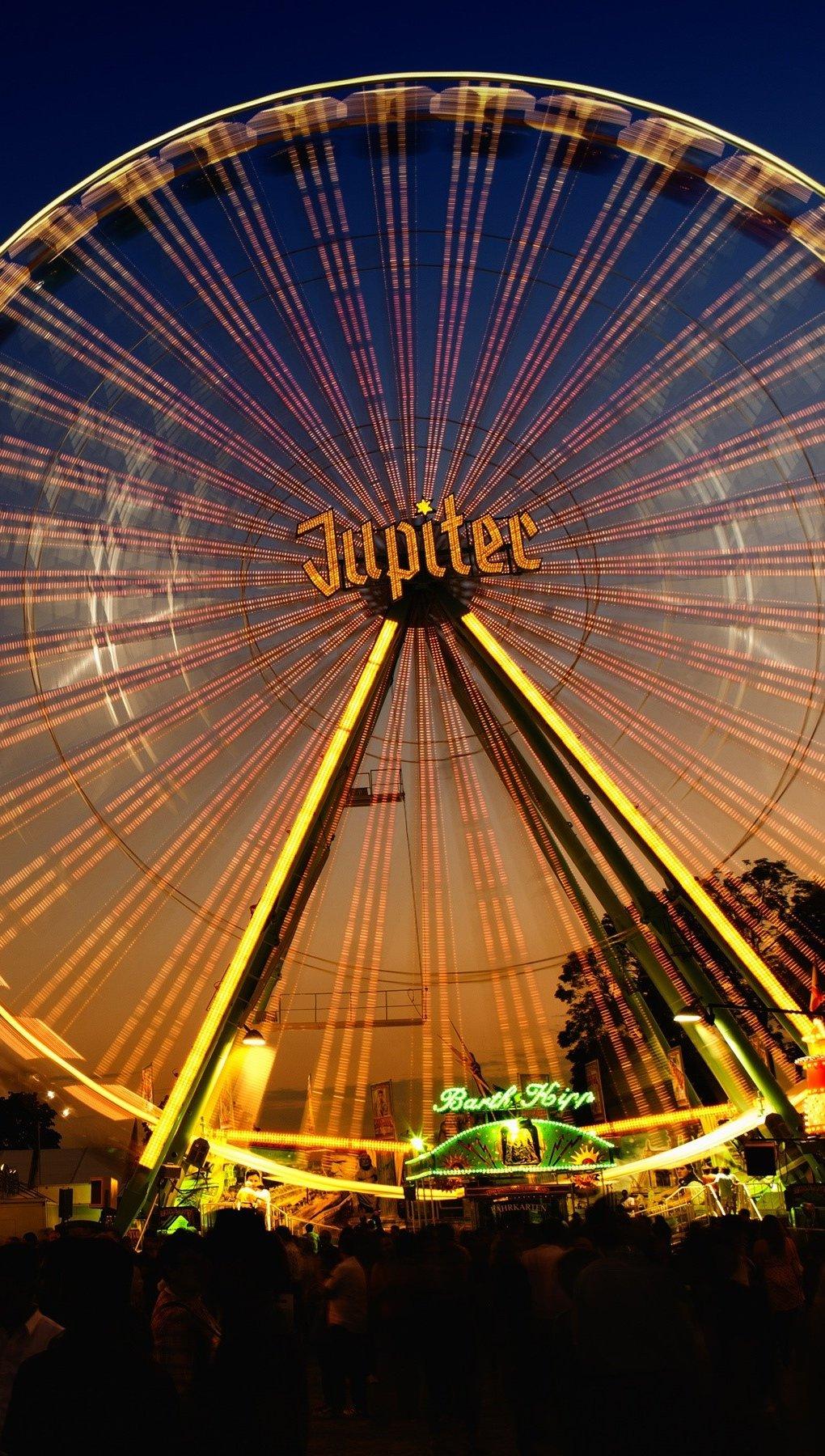 Wallpaper Ferris wheel Jupiter ferris Vertical
