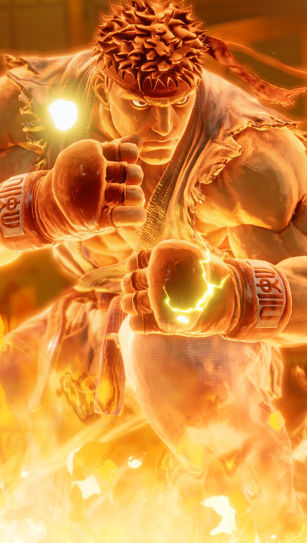 Wallpaper Ryu from Street Fighter Vertical