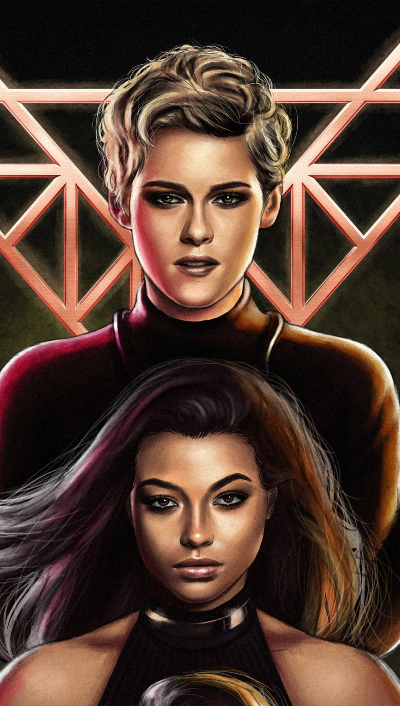 Wallpaper Sabrina and Jane in Charlie's Angels 2019 Vertical