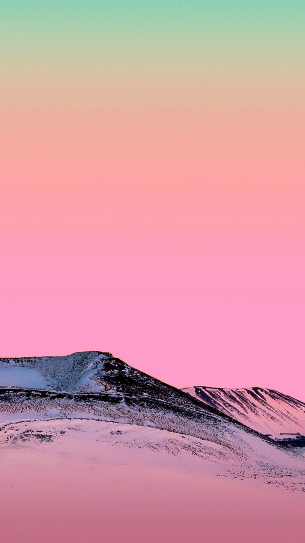 Fondos de pantalla Samsung Galaxy M20 Montaña color rosa Vertical