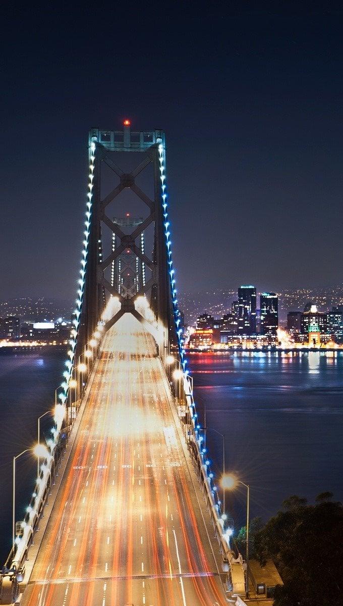 Fondos de pantalla San Francisco en la noche Vertical